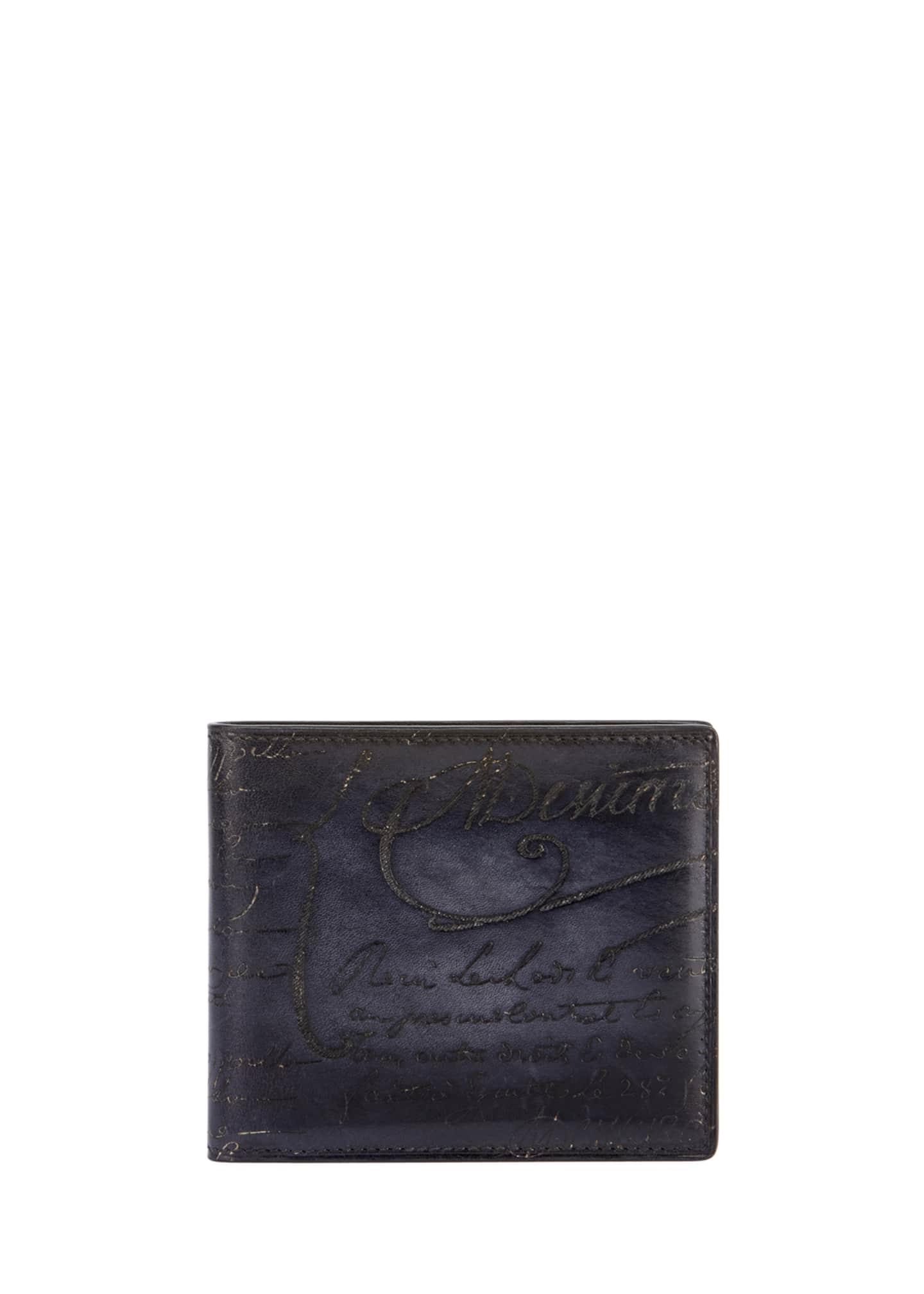 Berluti Scritto Leather Bi-Fold Wallet