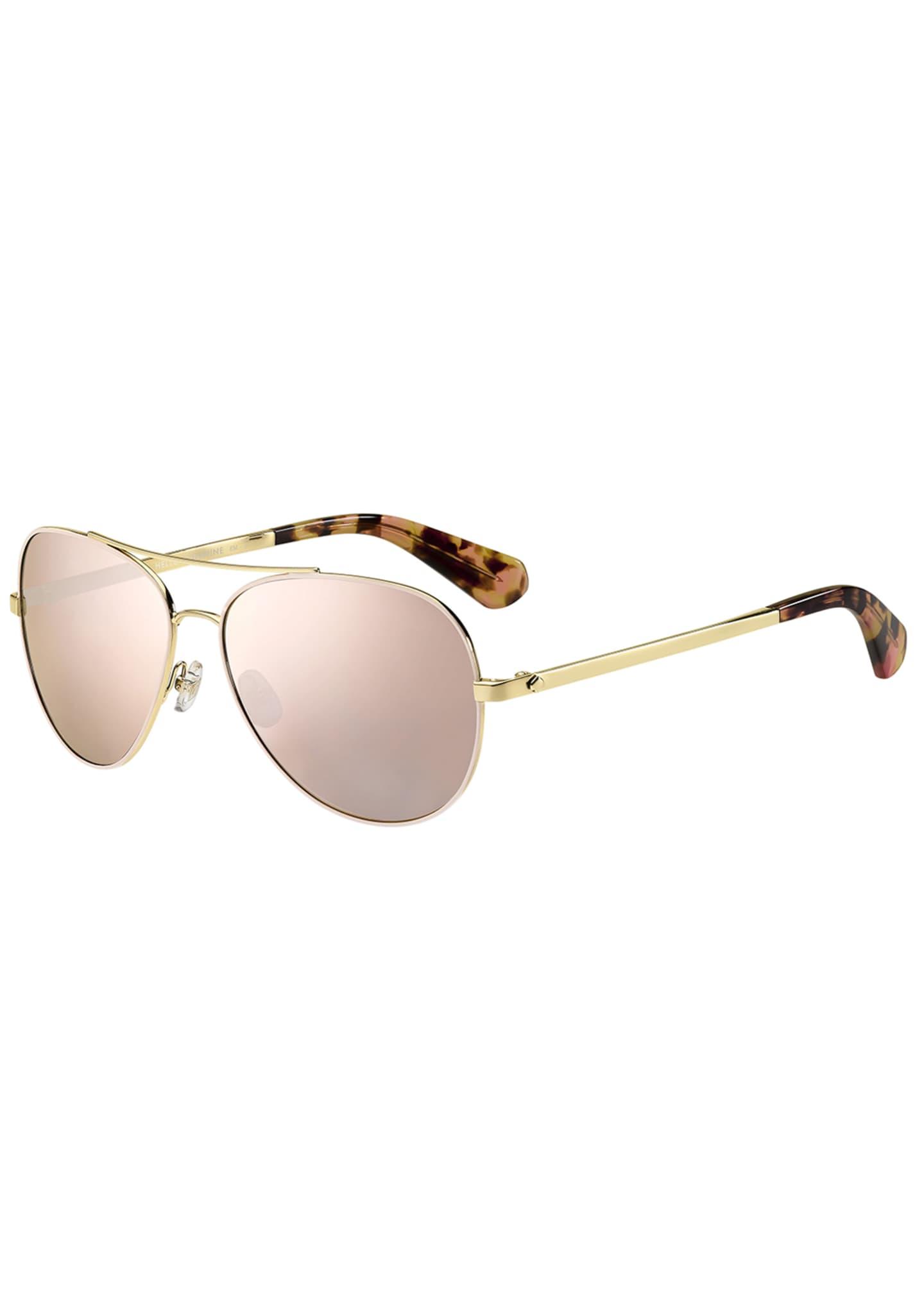 kate spade new york avaline mirrored aviator sunglasses