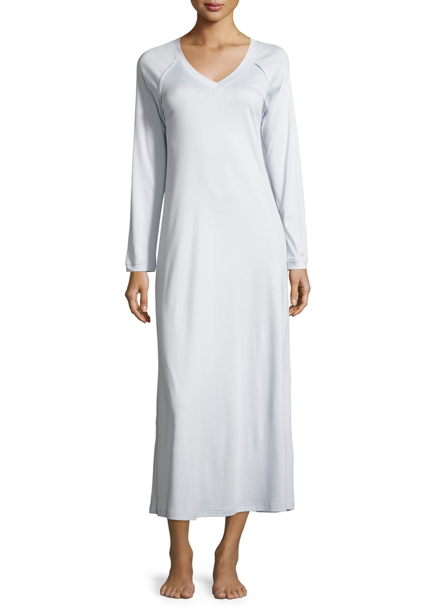 Image 1 of 2: Pure Essence Long-Sleeve Long Nightgown