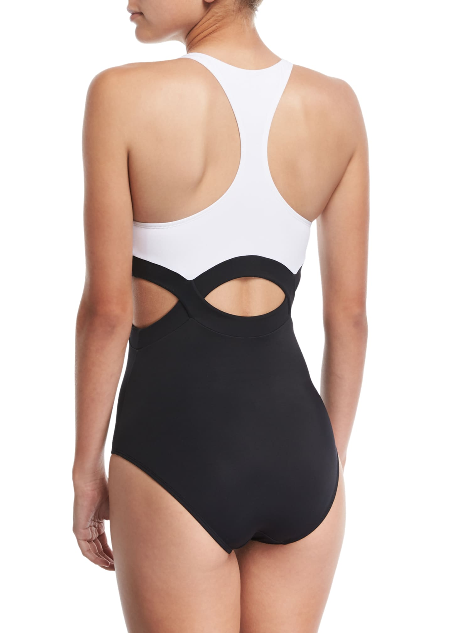 Image 2 of 2: Elvan High-Neck Cutout One-Piece Swimsuit
