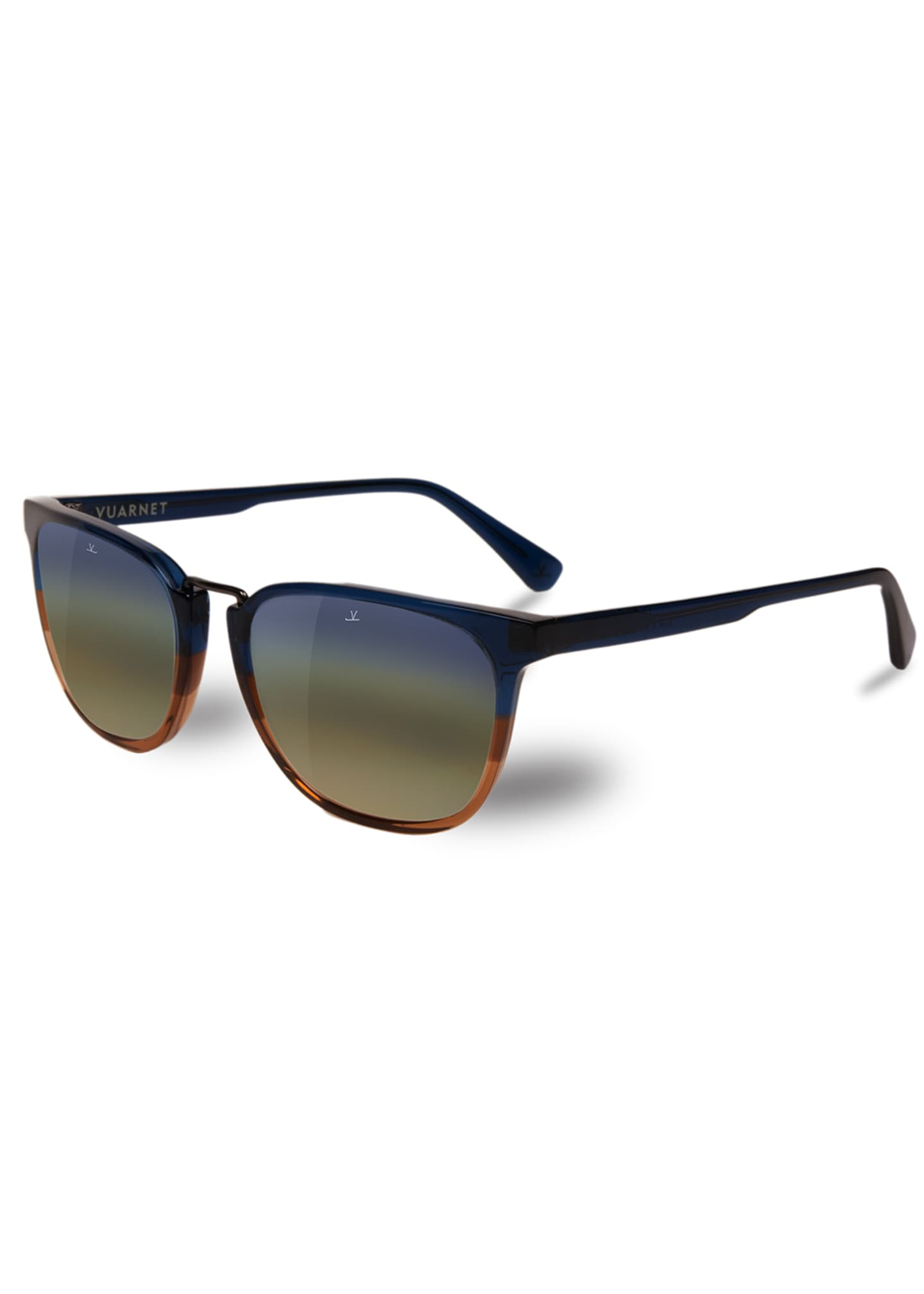 Vuarnet Men's Cable Car Square Flash Stainless Steel/Acetate