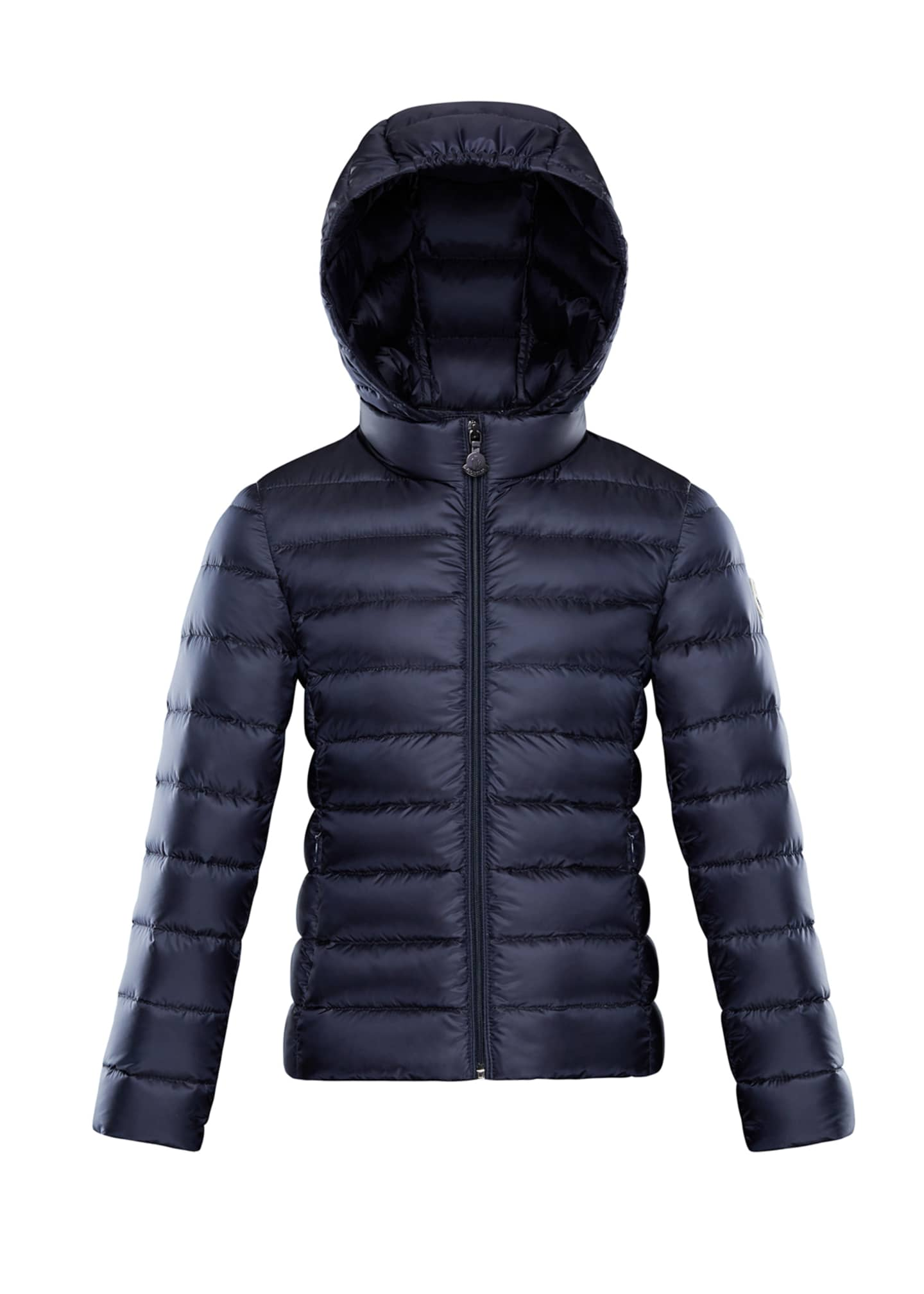Image 1 of 1: Iraida Hooded Lightweight Down Puffer Jacket, Navy, Size 8-14