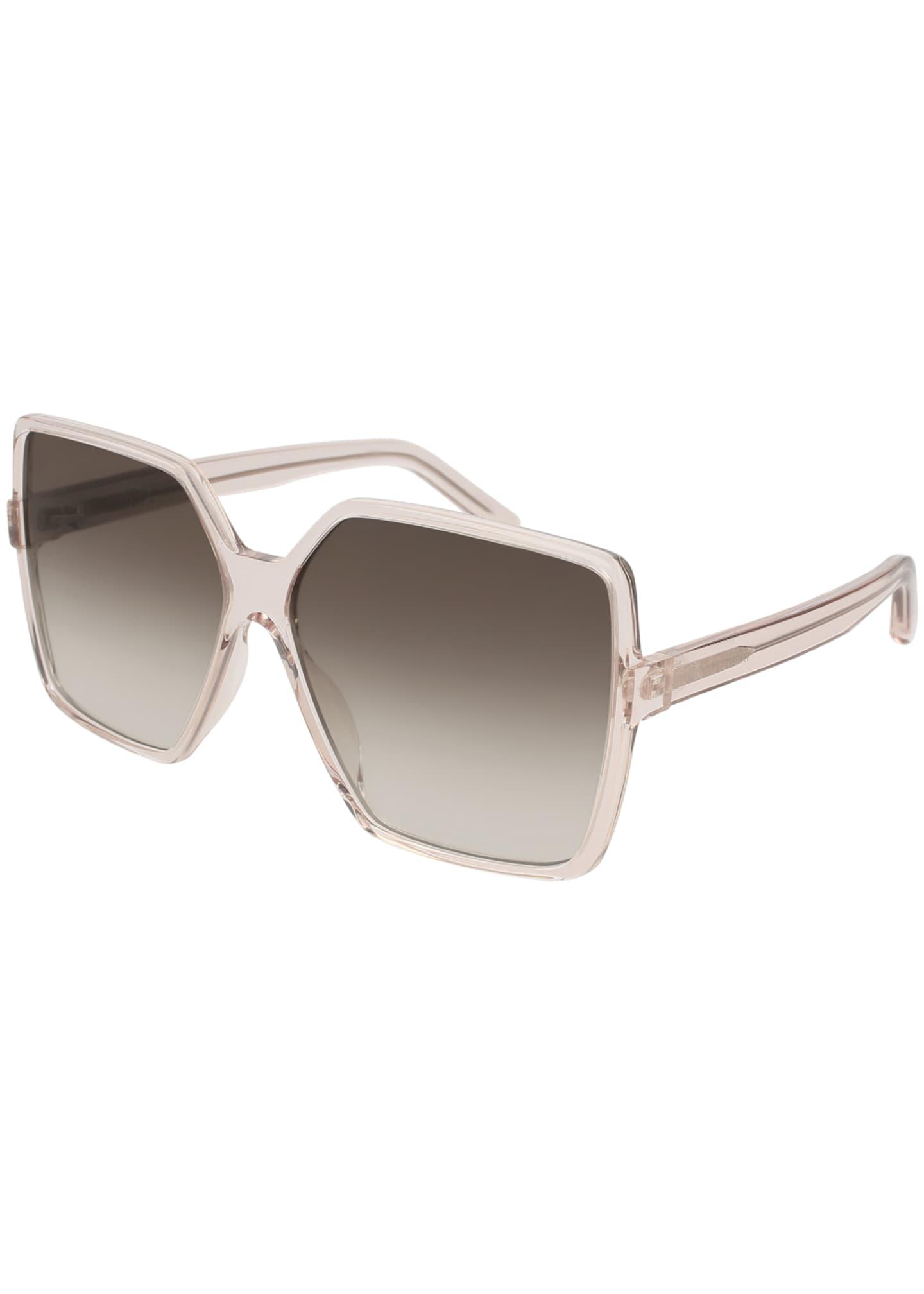 Oversized XL Square Clear Sunglasses - Sunglass Holic