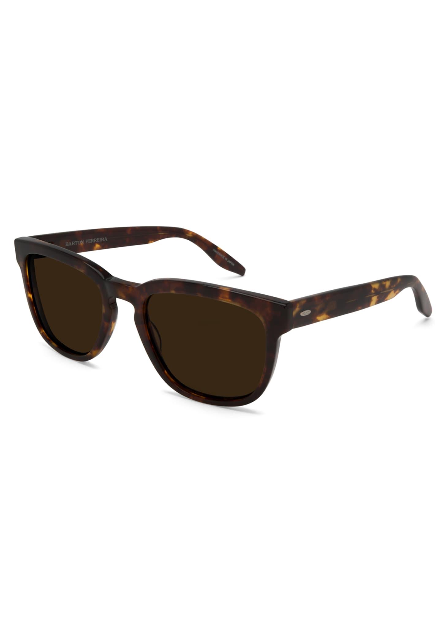 Barton Perreira Coltrane Square Tortoiseshell Sunglasses