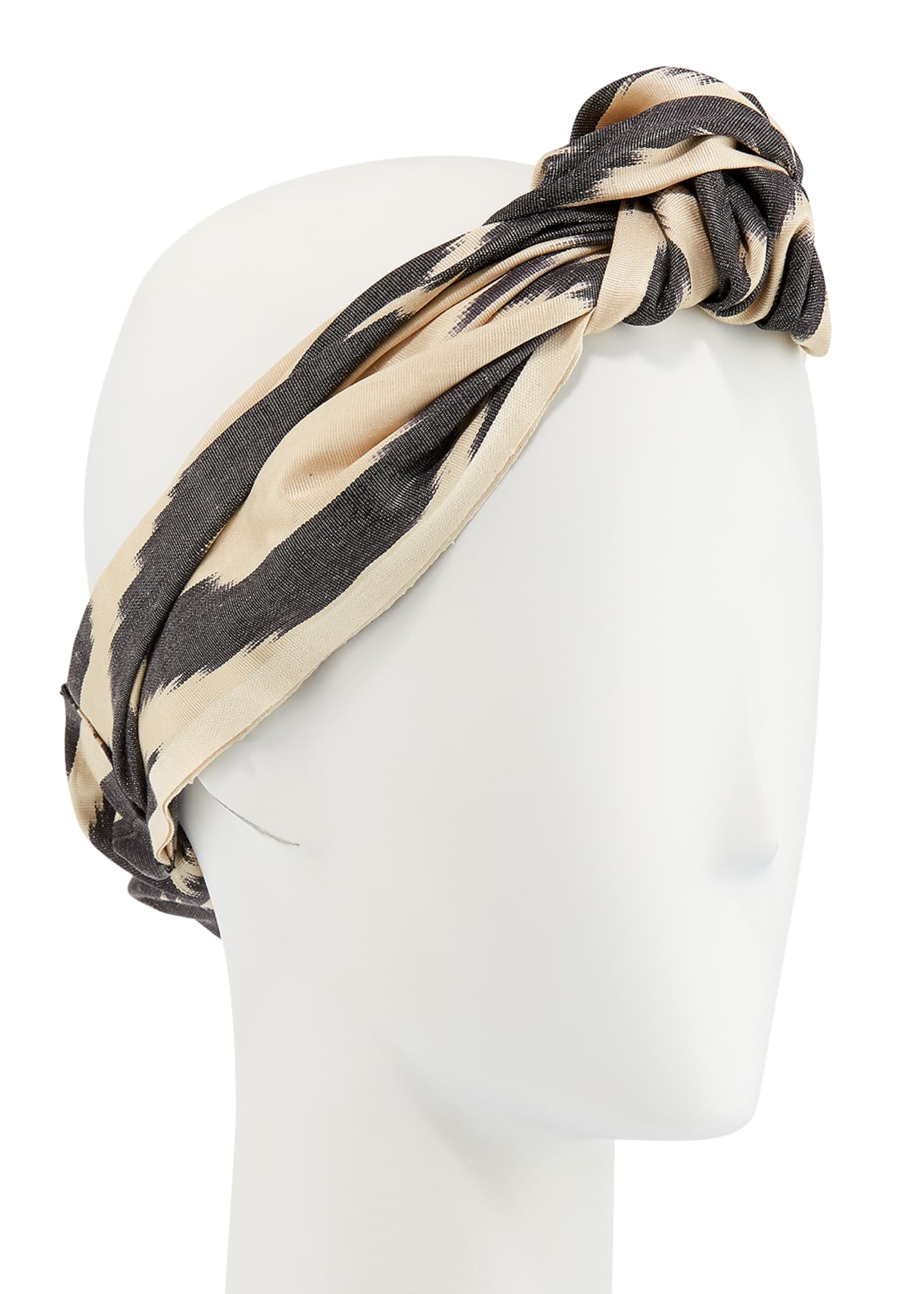 Jennifer Behr Marin Silk Turban Headband