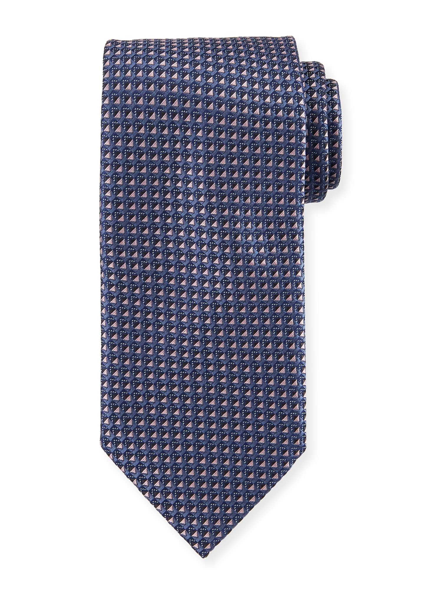 Brioni Two-Tone Neat Box Silk Tie