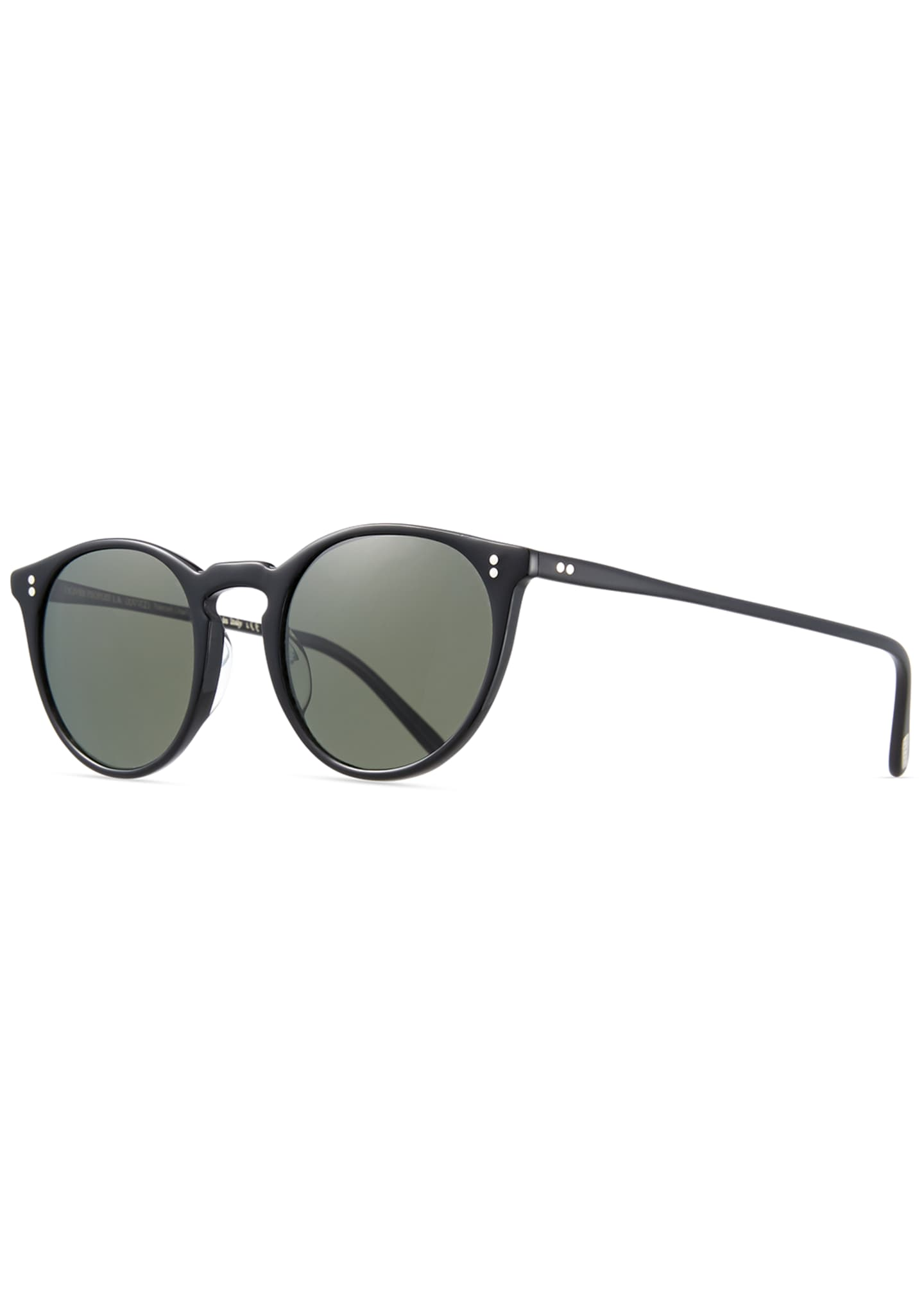 Oliver Peoples Men's O'Malley NYC Peaked Round Sunglasses