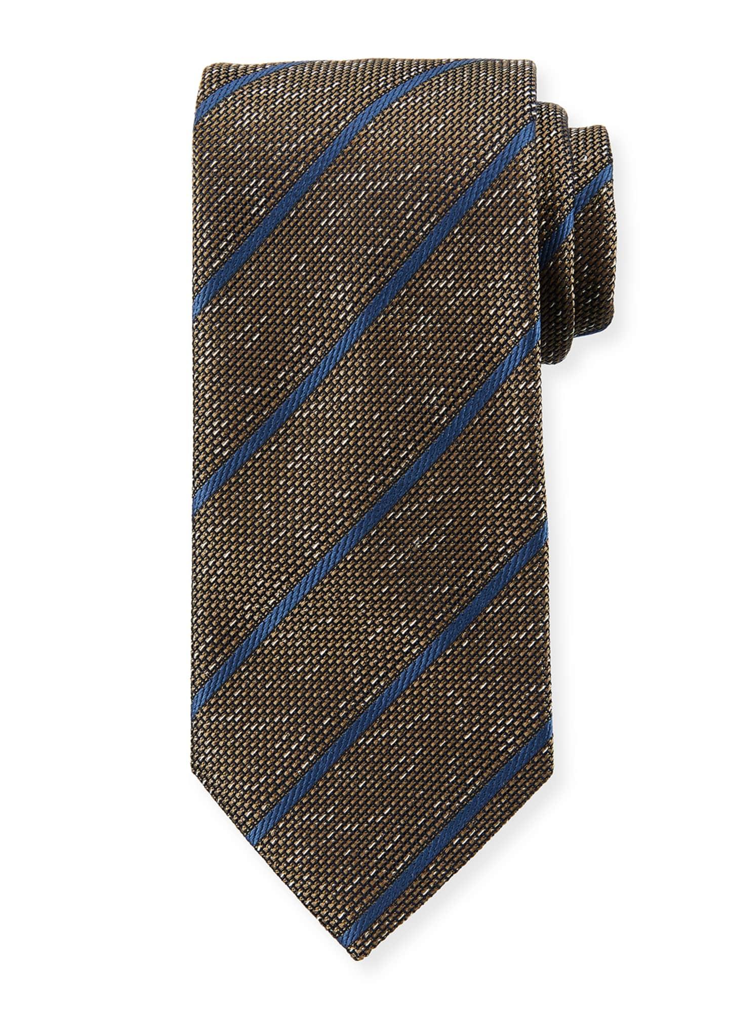 Brioni Textured Striped Silk Tie