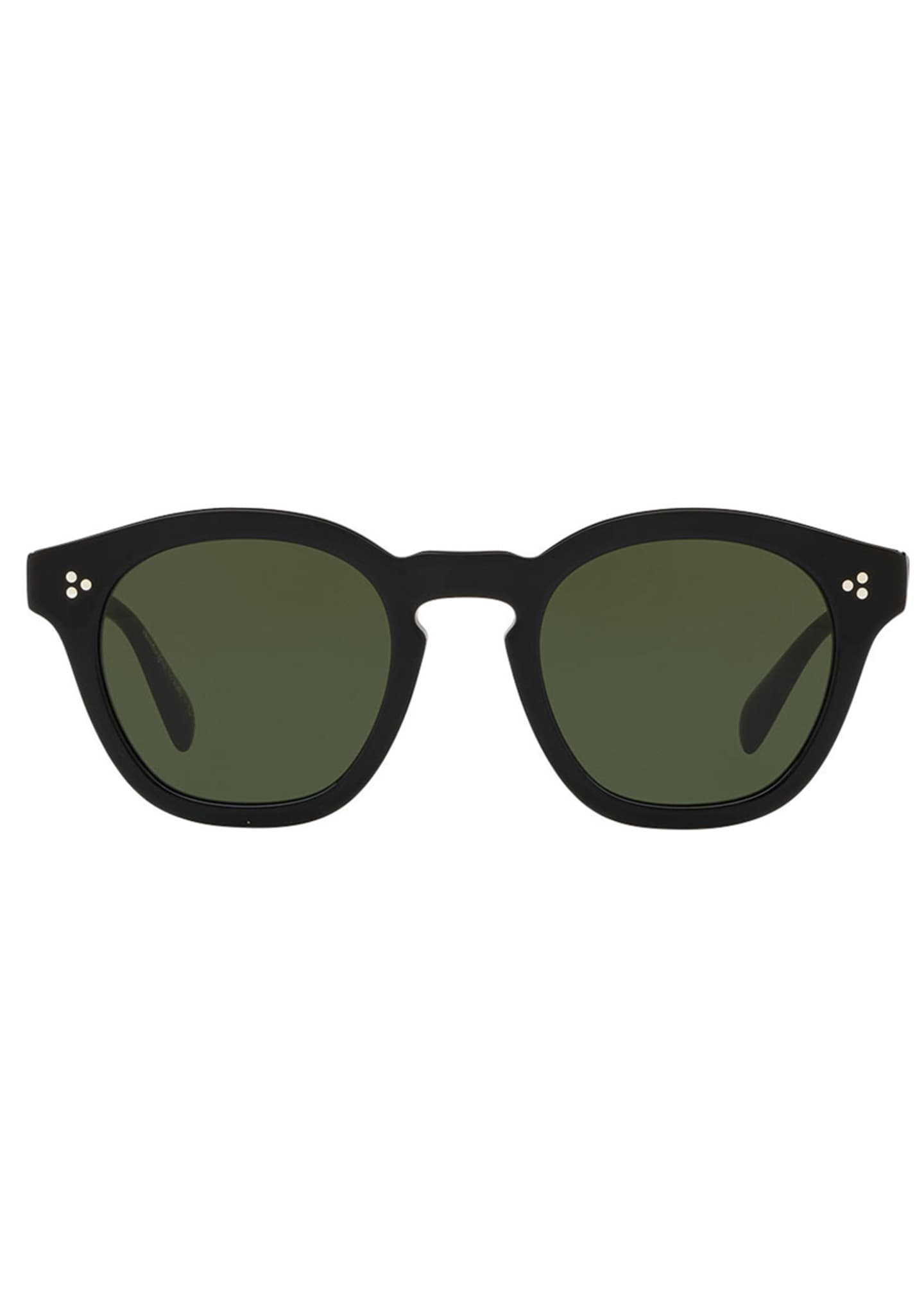 Image 2 of 2: Boudreau L.A. Mirrored Round Acetate Sunglasses