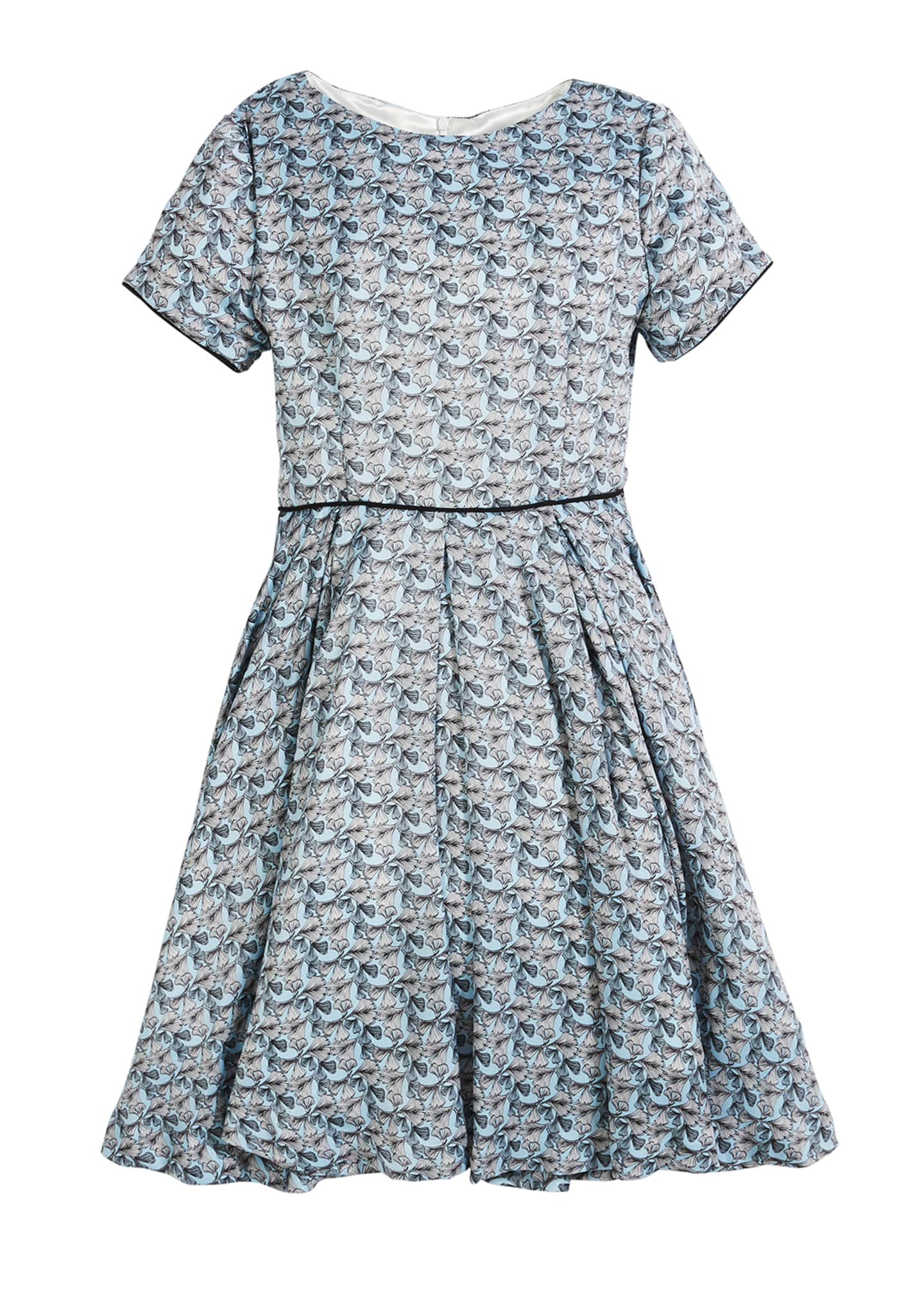 Helena Short-Sleeve Printed Dress, Size 2-6