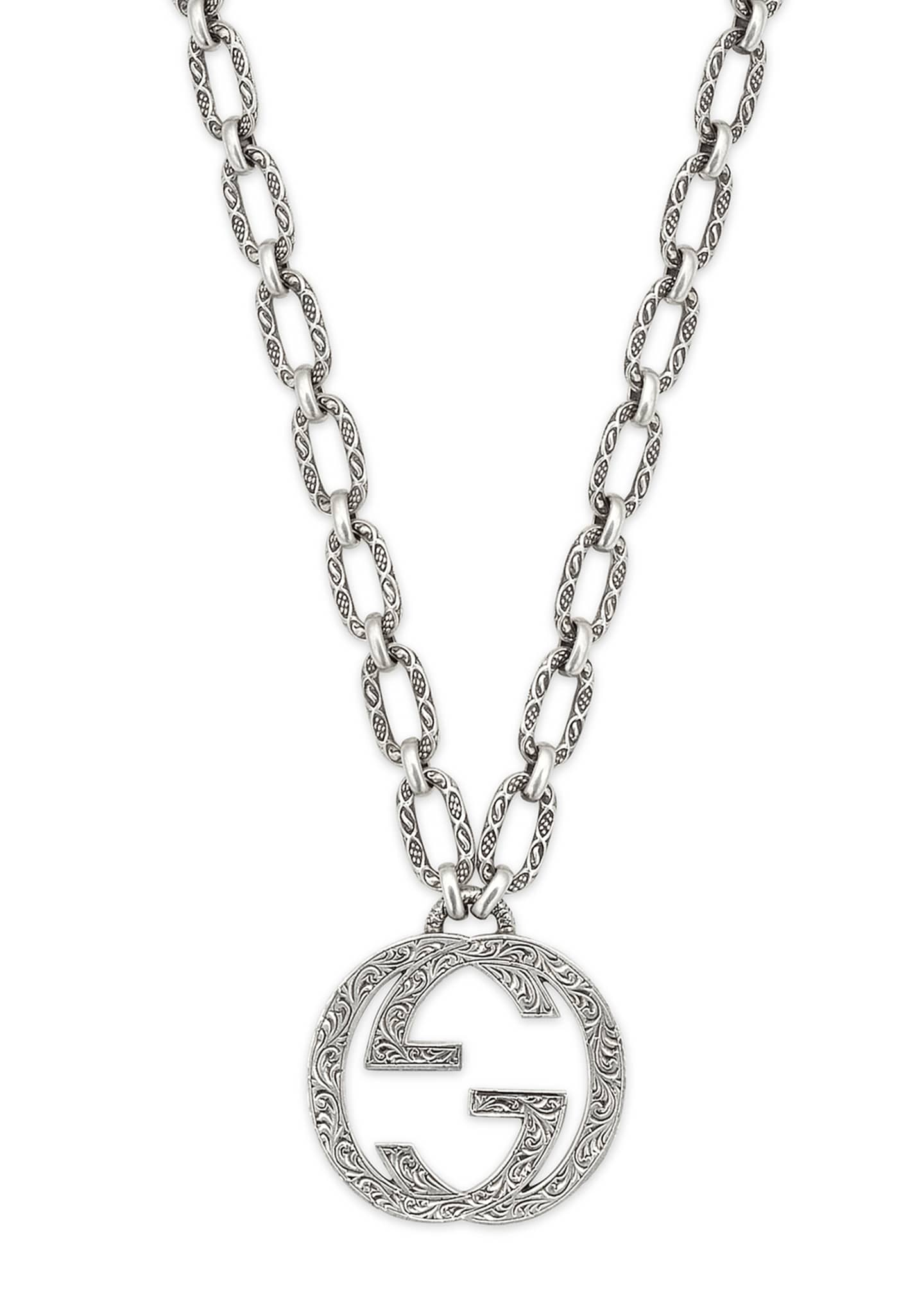 Gucci Men's Interlocking G Pendant Necklace, 36