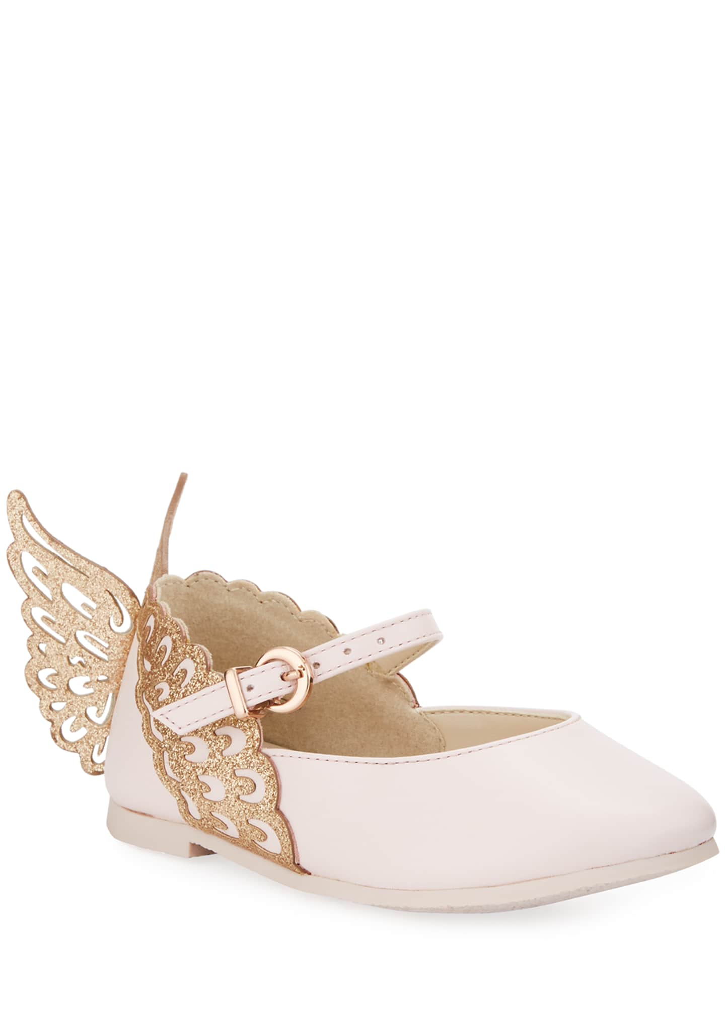 Sophia Webster Evangeline Leather Butterfly-Wing Flats, Toddler/Kid