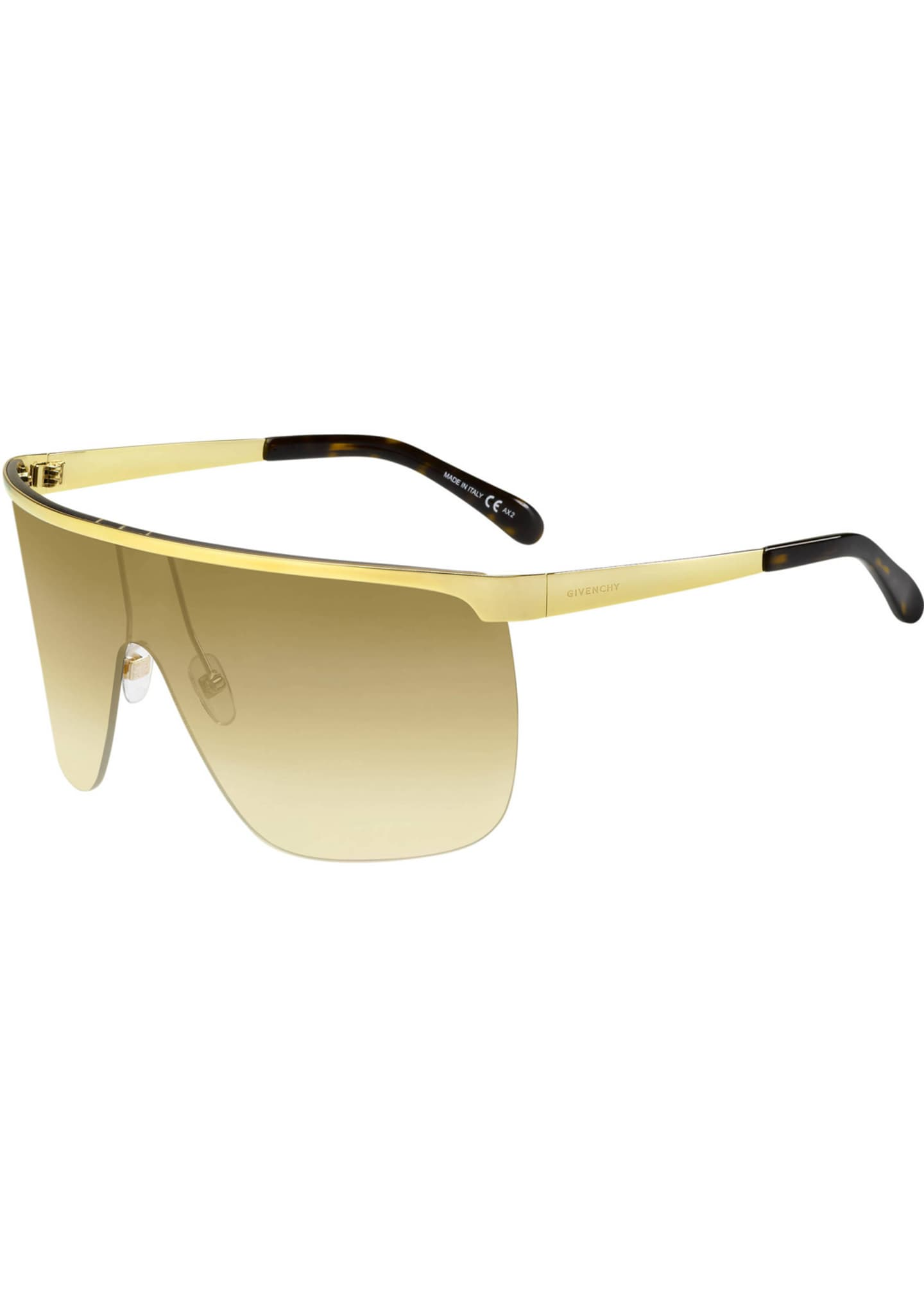 Givenchy Gradient Metal Shield Sunglasses