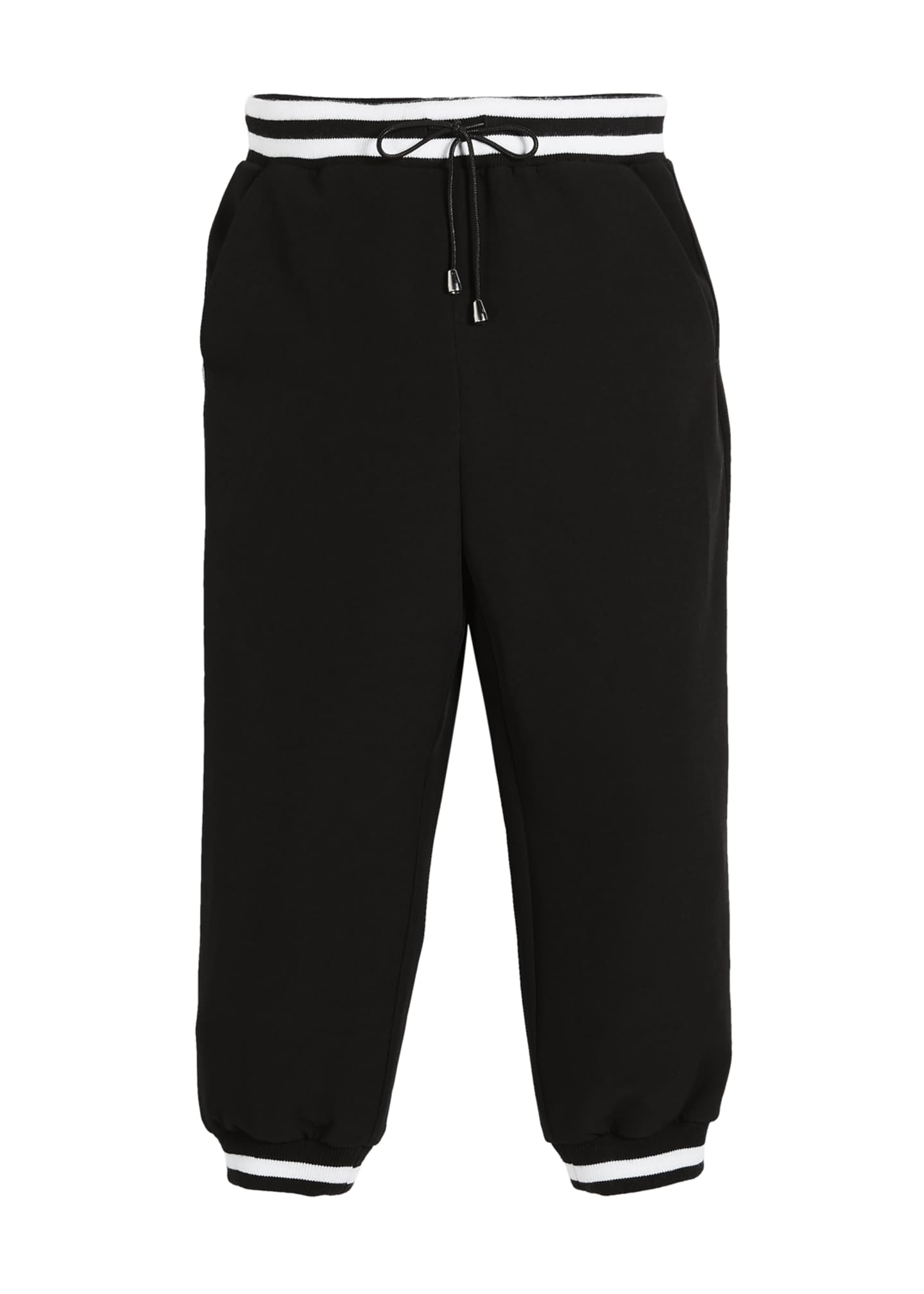 Milly Minis Italian Cady Striped Track Pants, Size