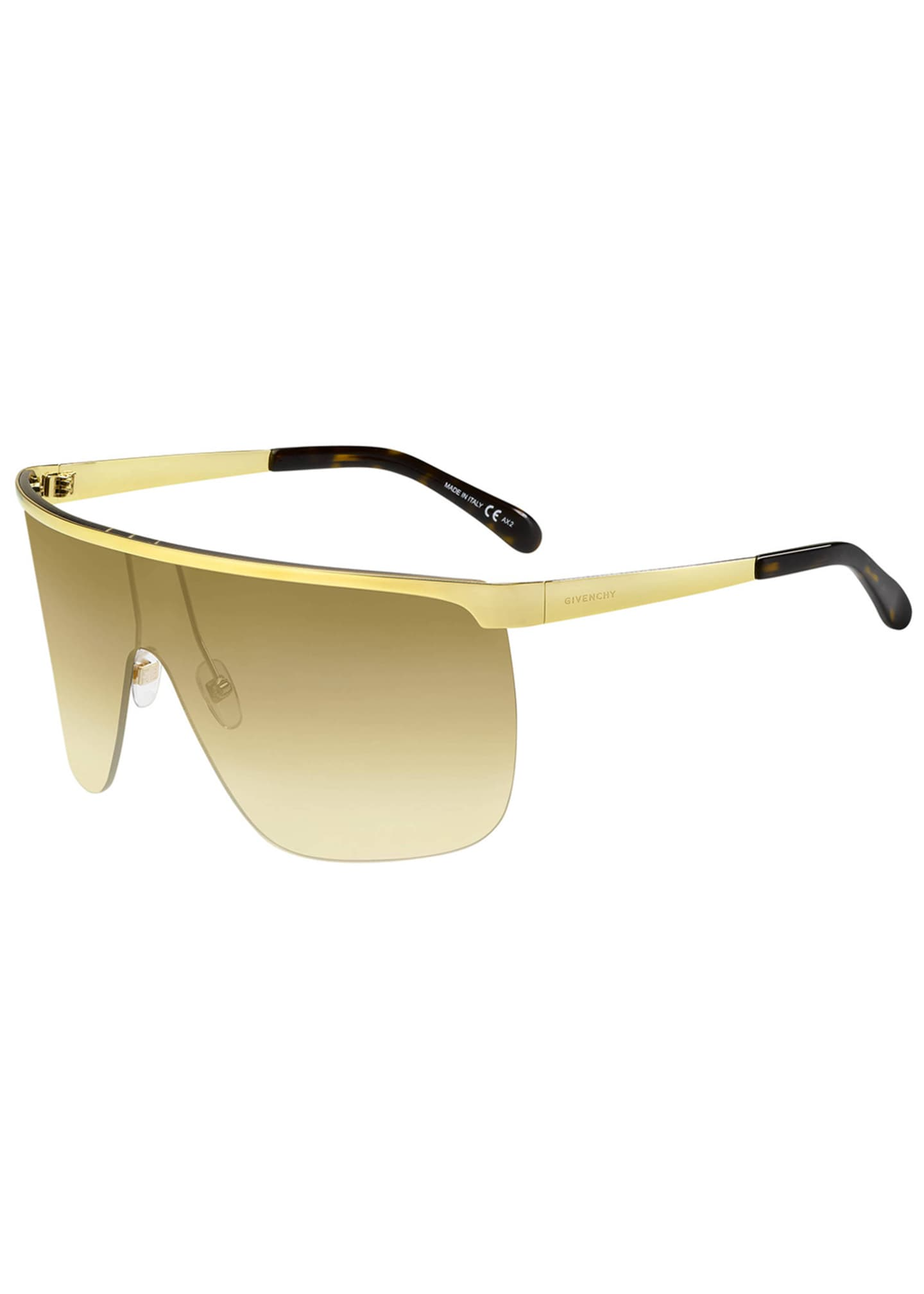 Givenchy Men's Metal Shield Sunglasses