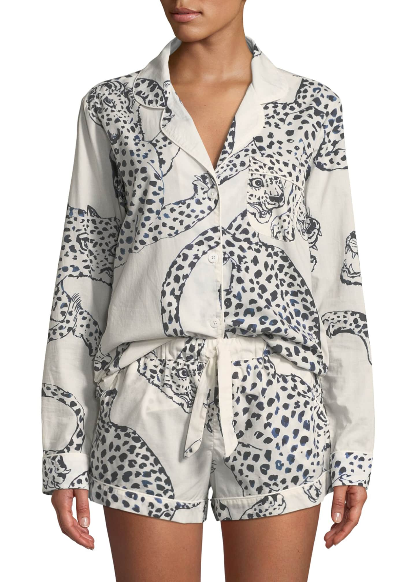 Desmond & Dempsey Leopard Print Classic Short Pajama