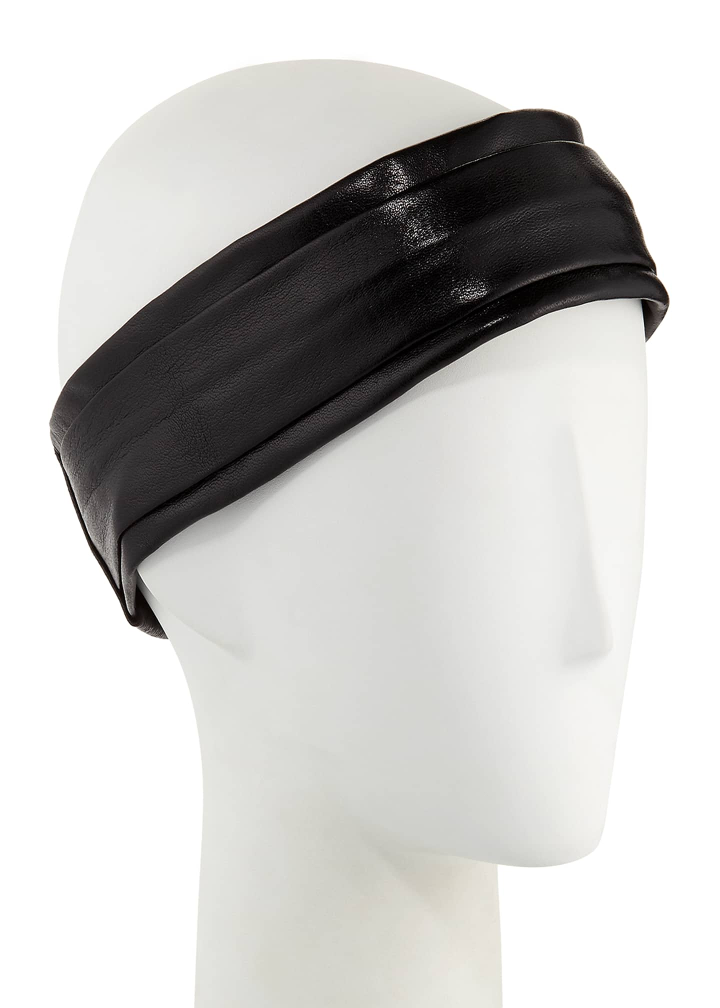 Epona Valley Narrow Leather Pleated Headband