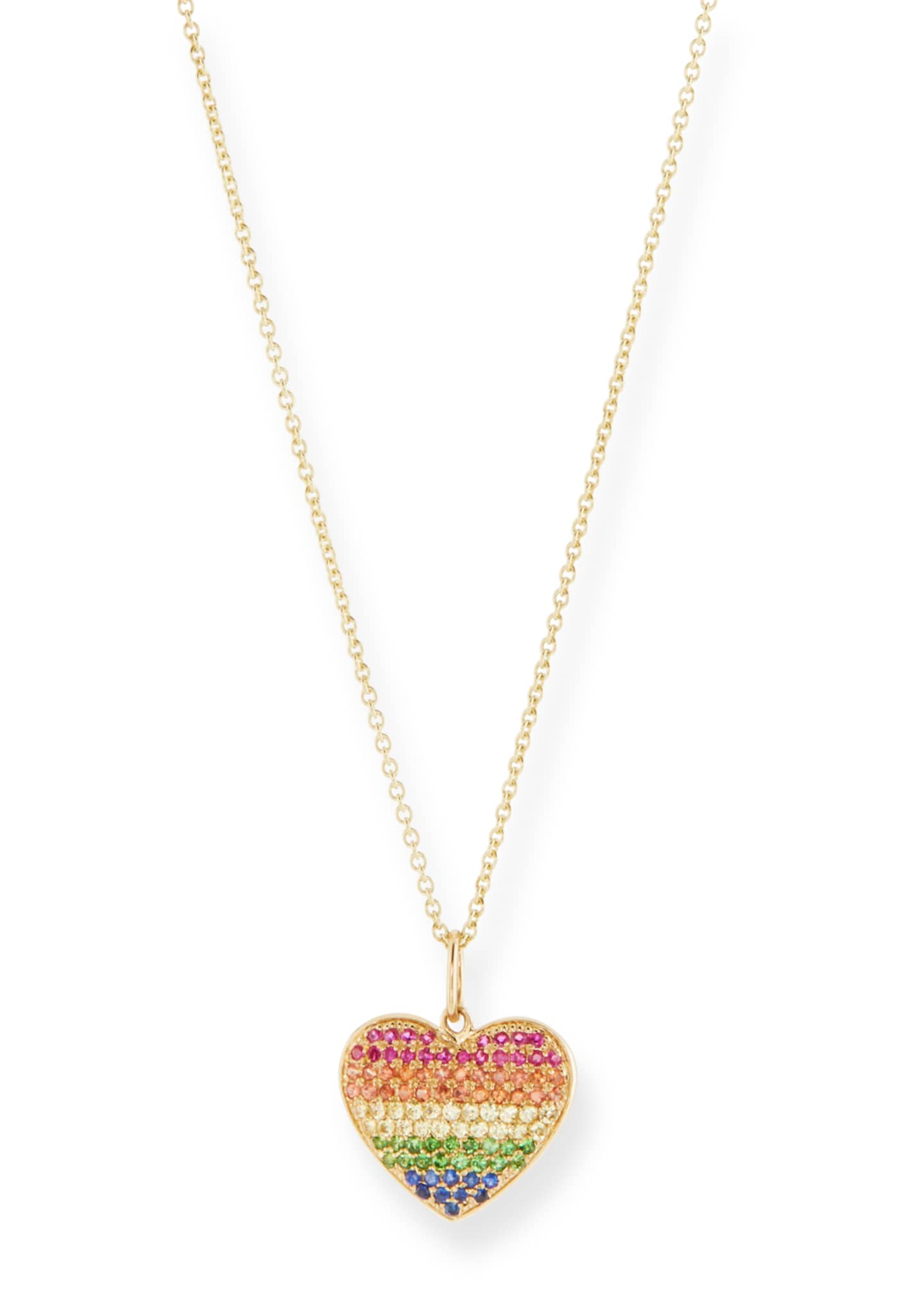 Image 1 of 1: Kids' Rainbow Heart Necklace