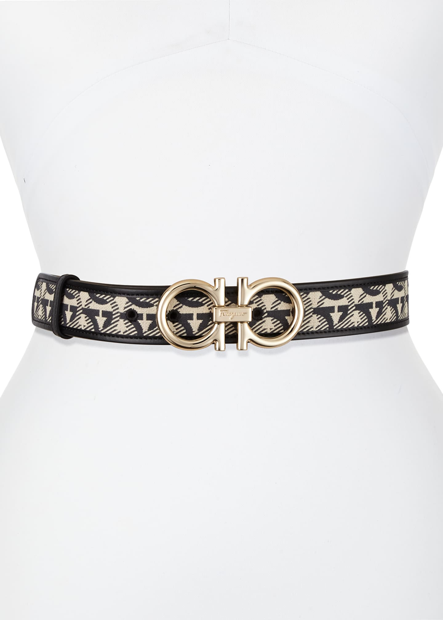 Image 2 of 2: Gancini Jacquard Belt