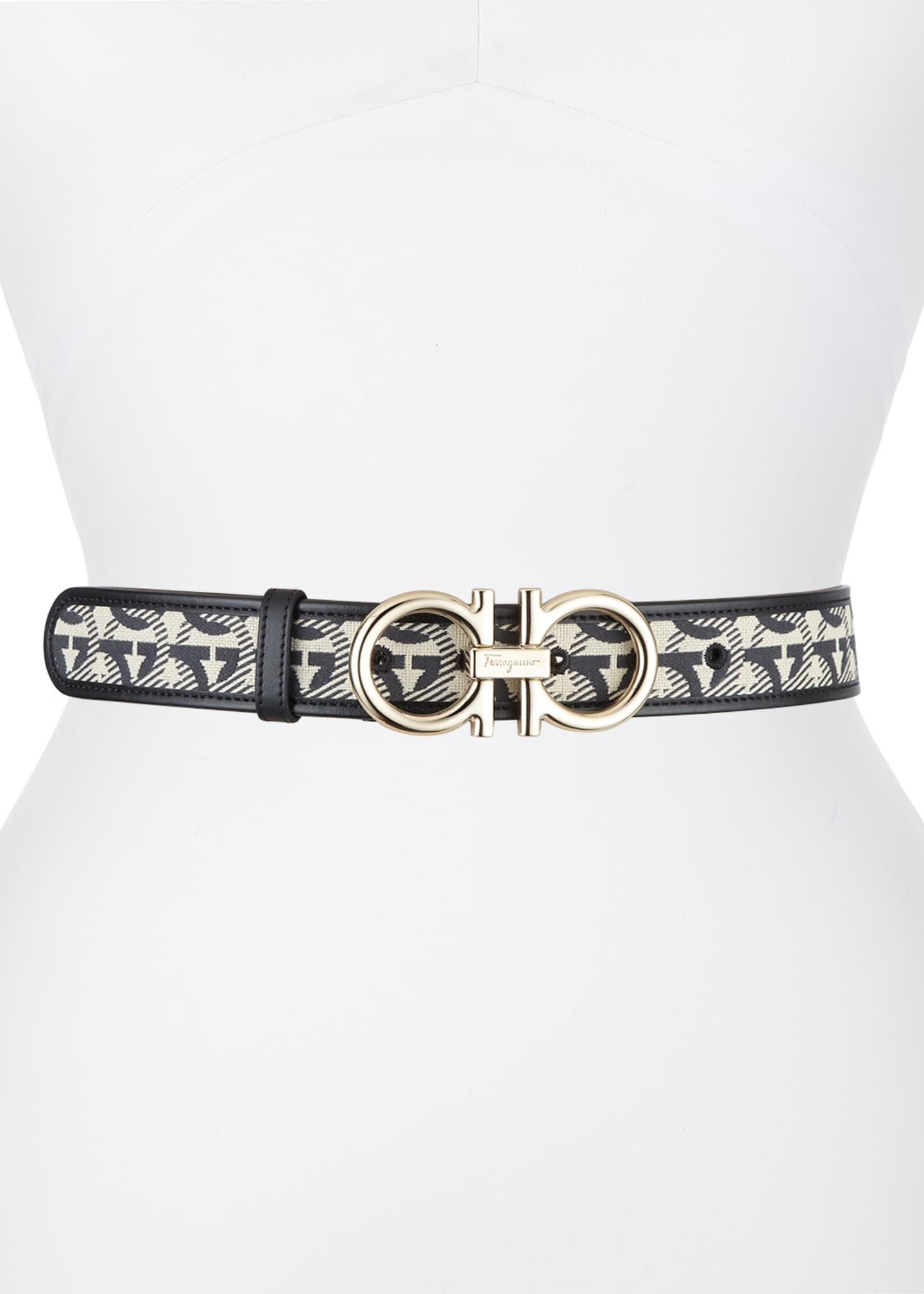 Image 1 of 2: Gancini Jacquard Belt