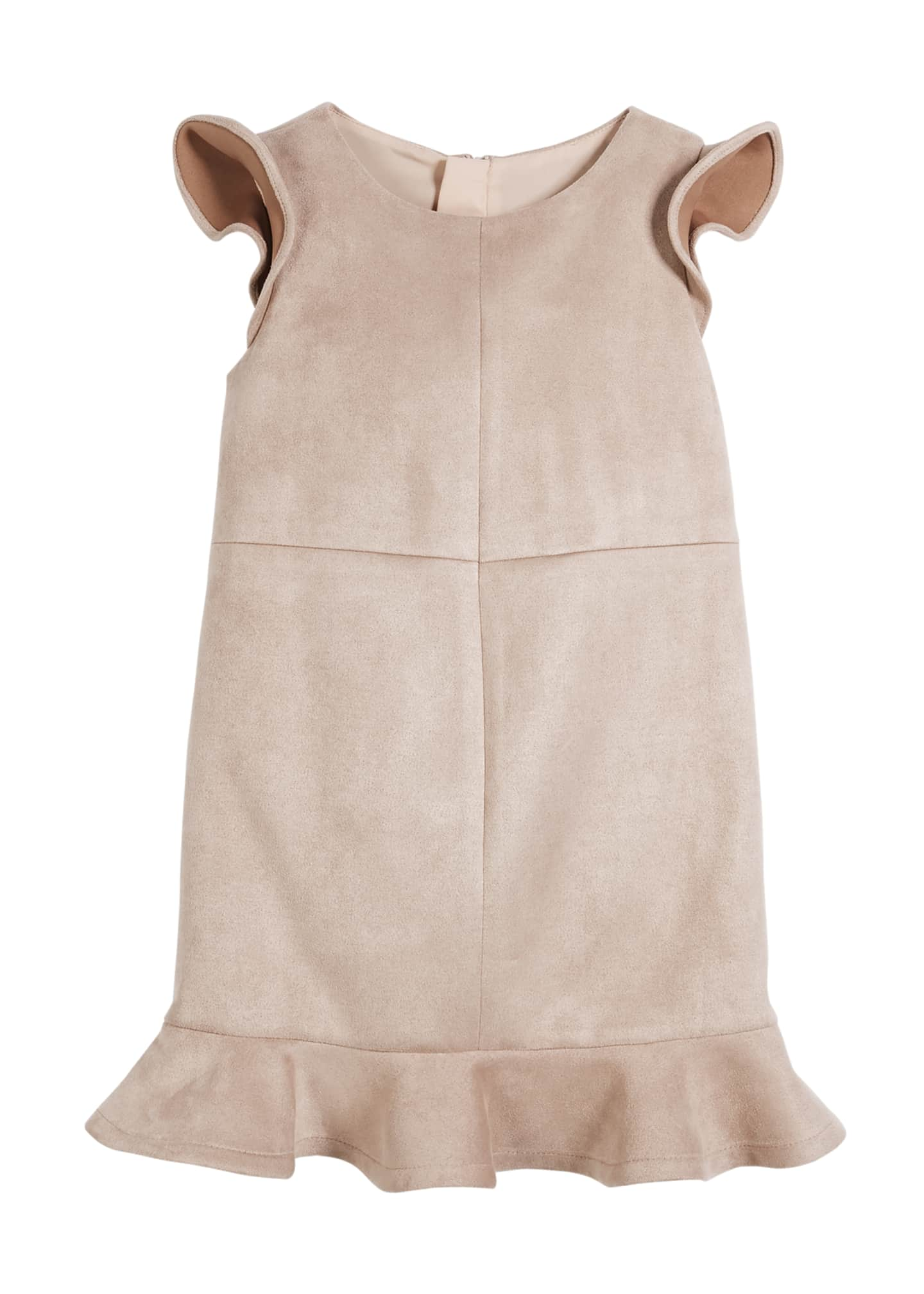 Milly Minis Paneled Stretch Sueded Dress, Size 4-7