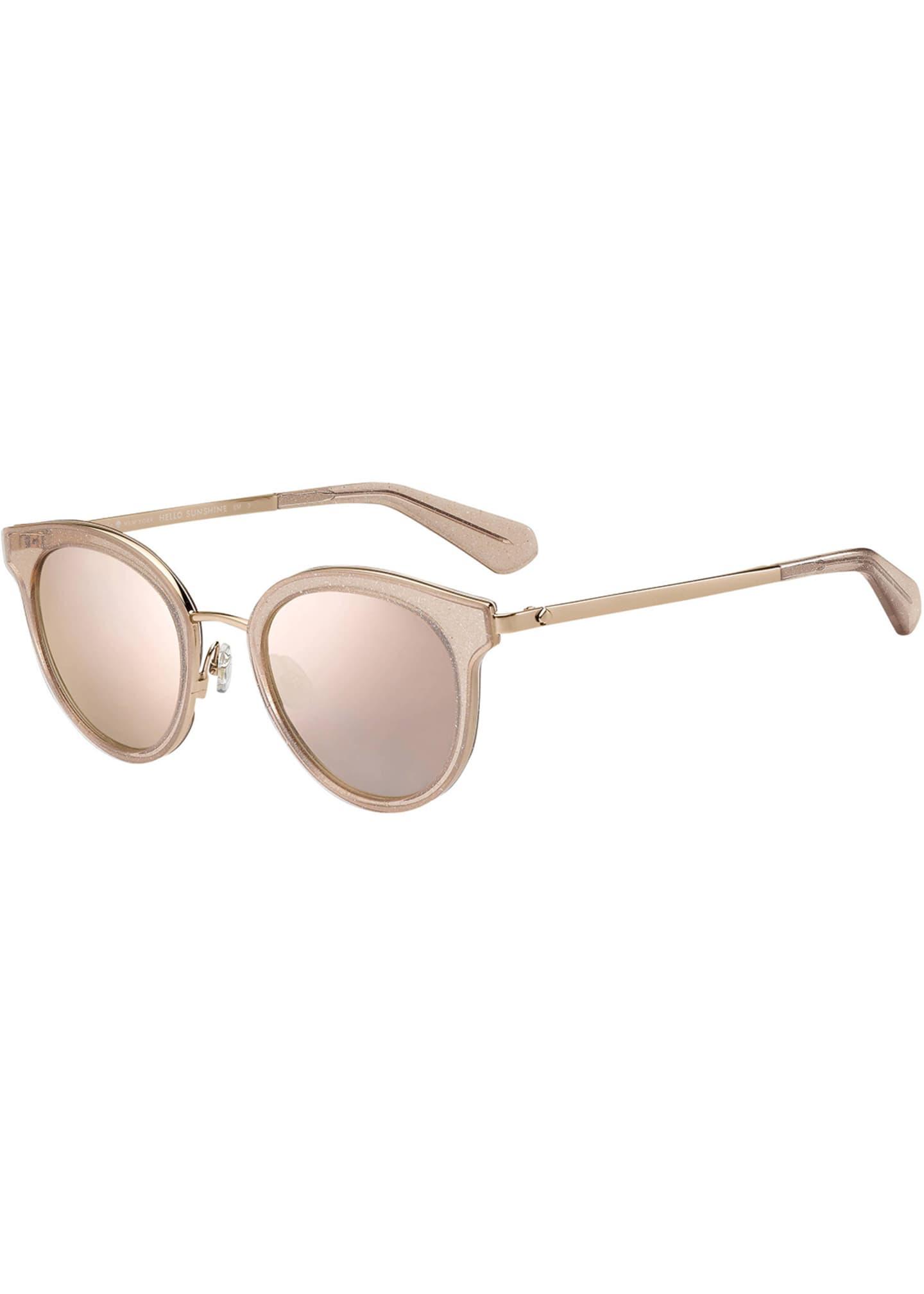 kate spade new york lisannefs round mirrored sunglasses