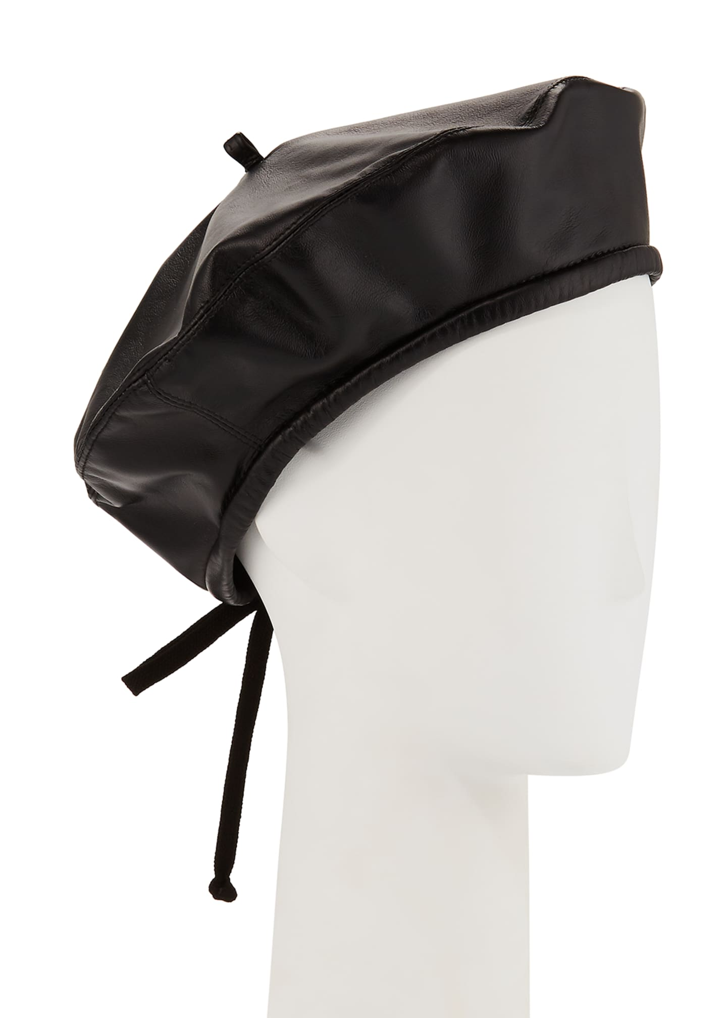 Eric Javits Kate Two-Tone Leather Beret