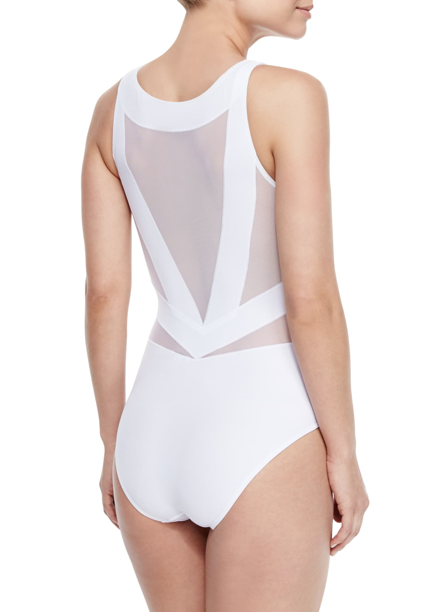 Image 2 of 2: Esther Strappy Mesh One-Piece Swimsuit