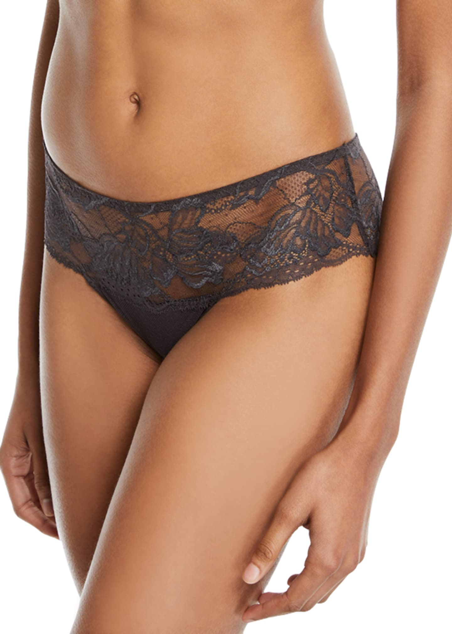 Image 2 of 2: Promesse Lace Boyshorts