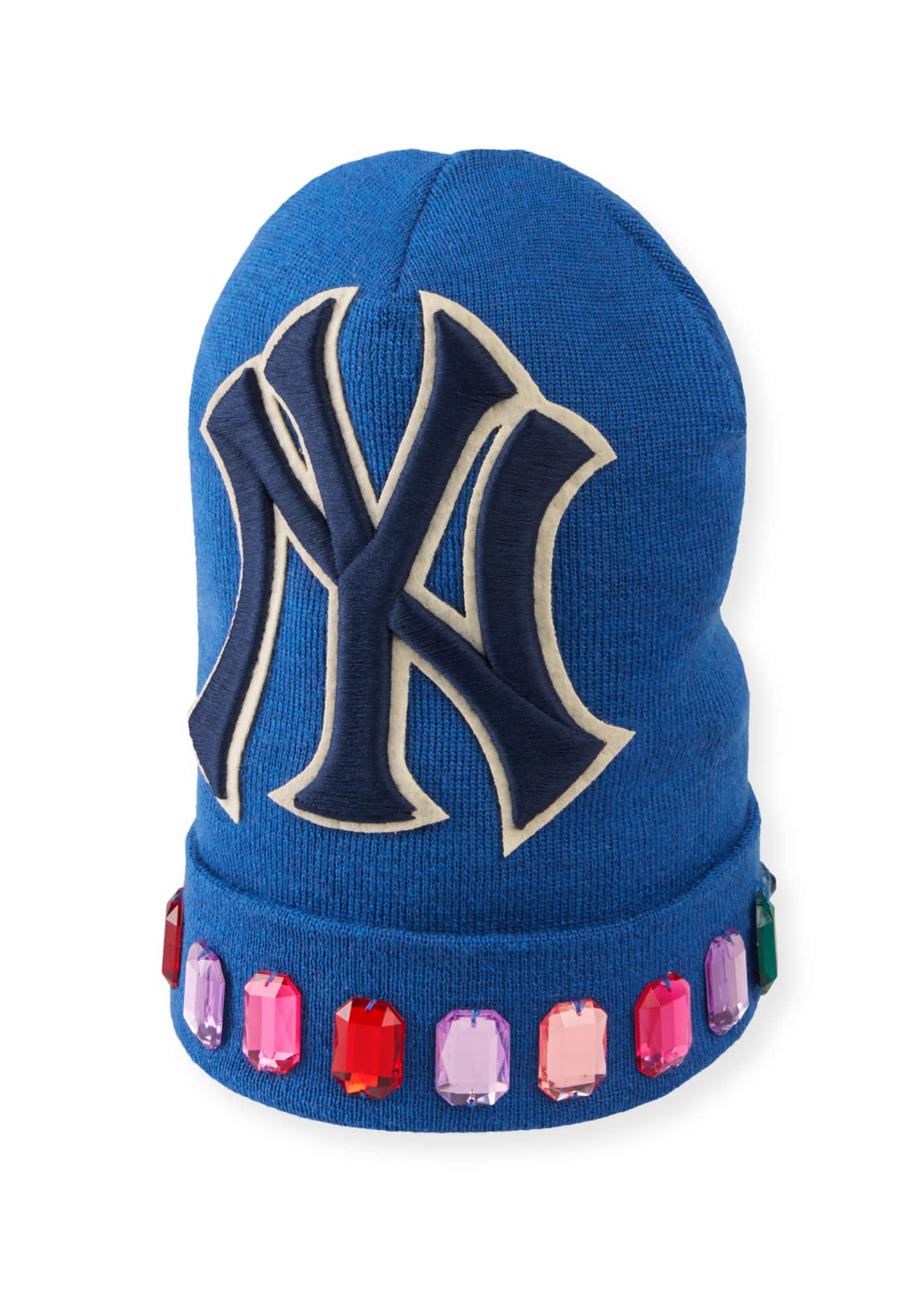 Gucci Men's Jewel-Trim New York Yankees-Applique Beanie Hat
