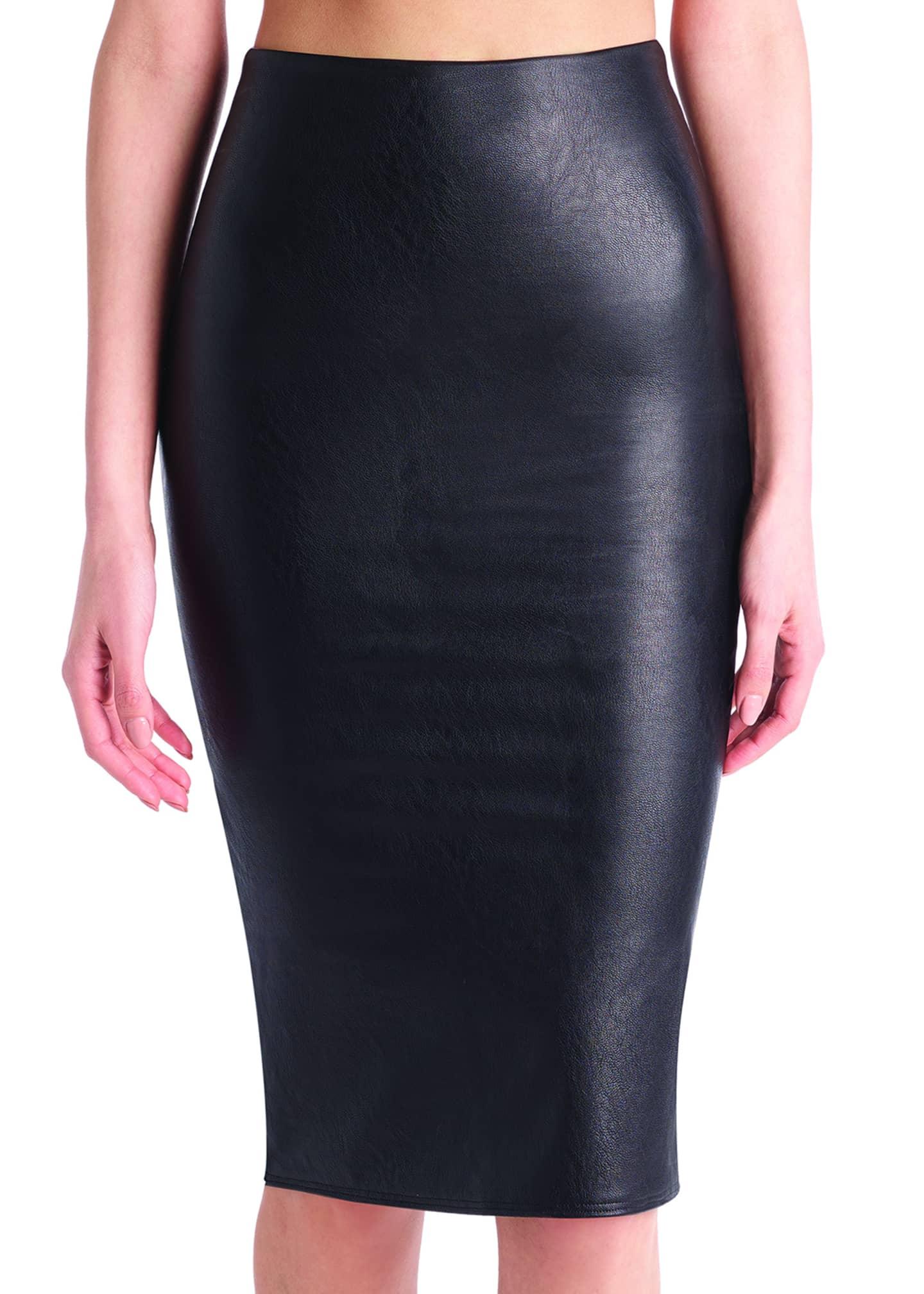 Commando Faux-Leather Midi Skirt