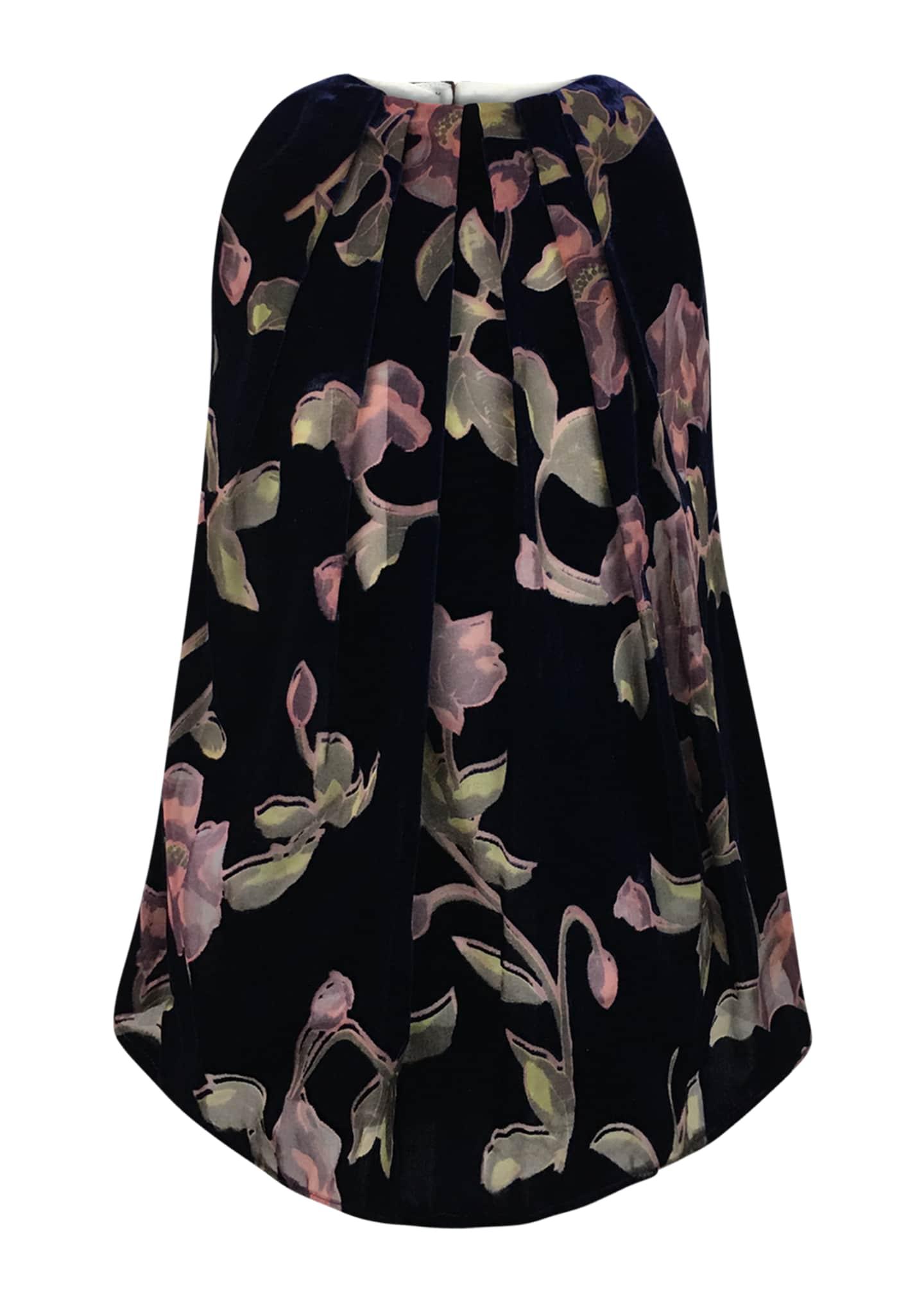 Helena Velvet Burnout Floral Dress, Size 4-6