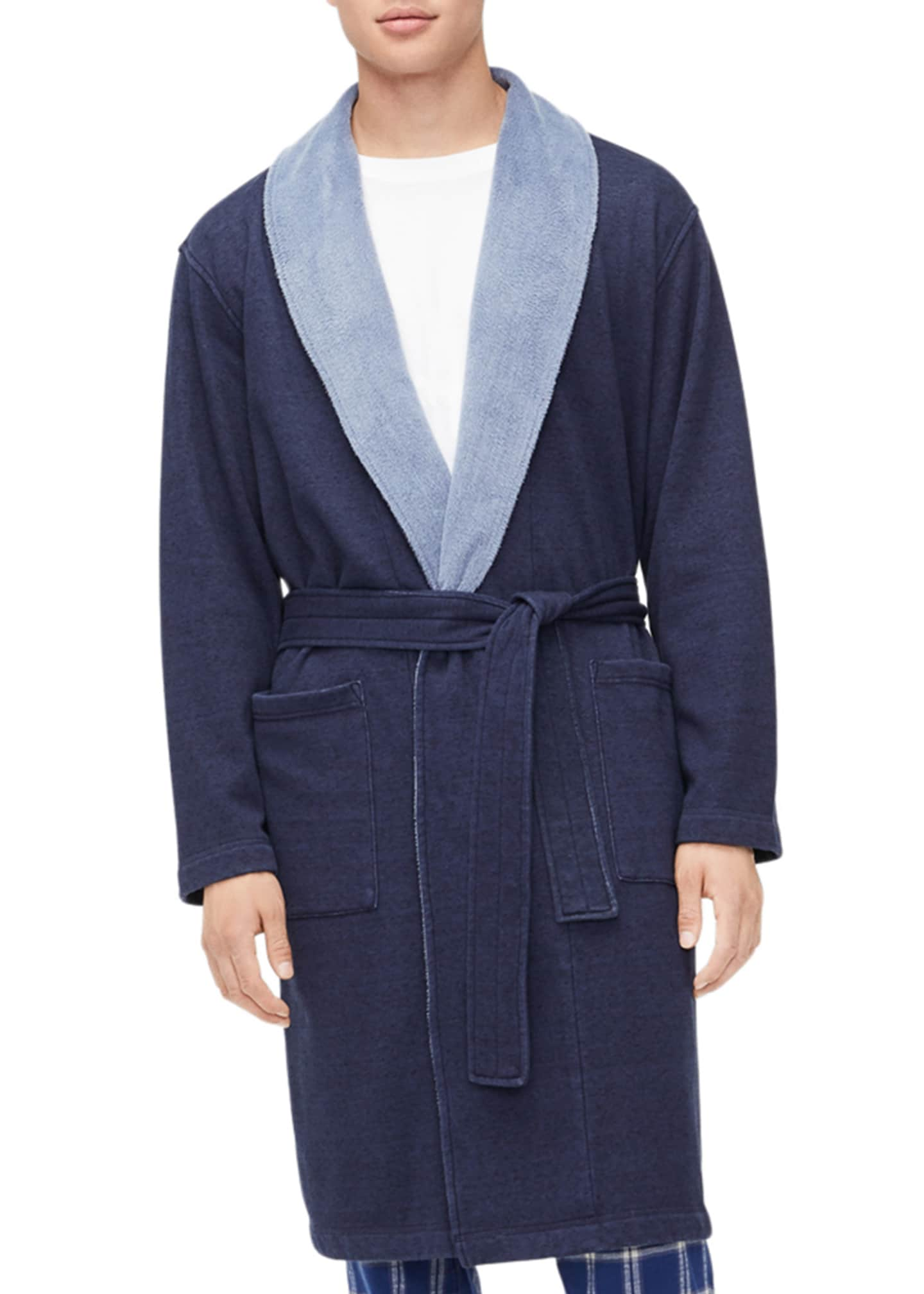 Image 1 of 4: Men's Robinson Two-Tone Robe