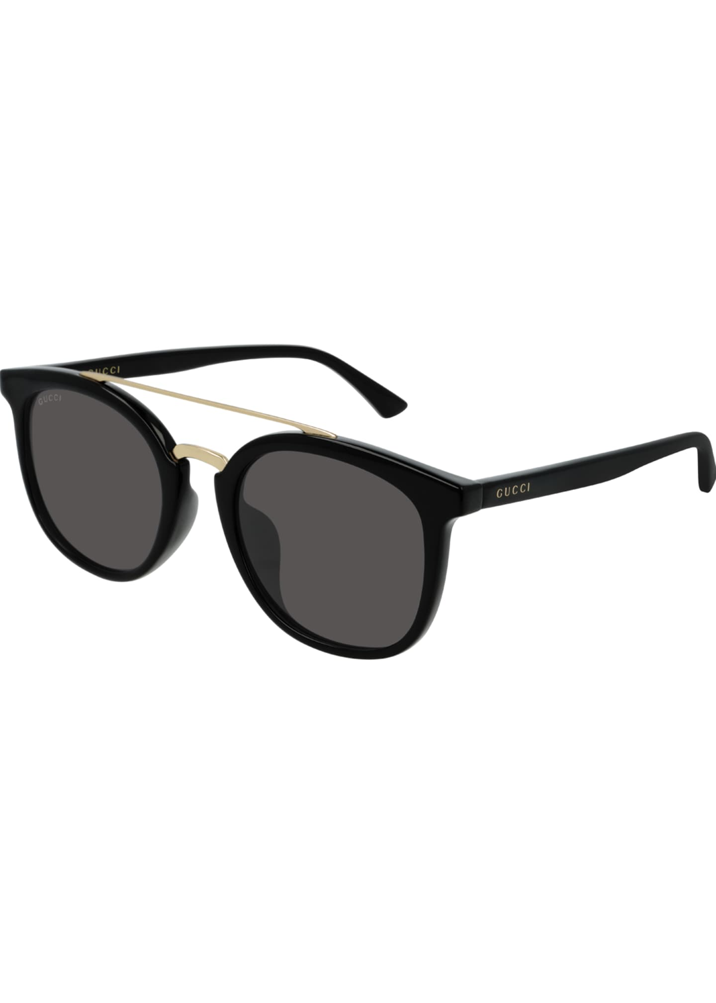 Image 1 of 1: Men's GG0403SA001M Round Keyhole Sunglasses