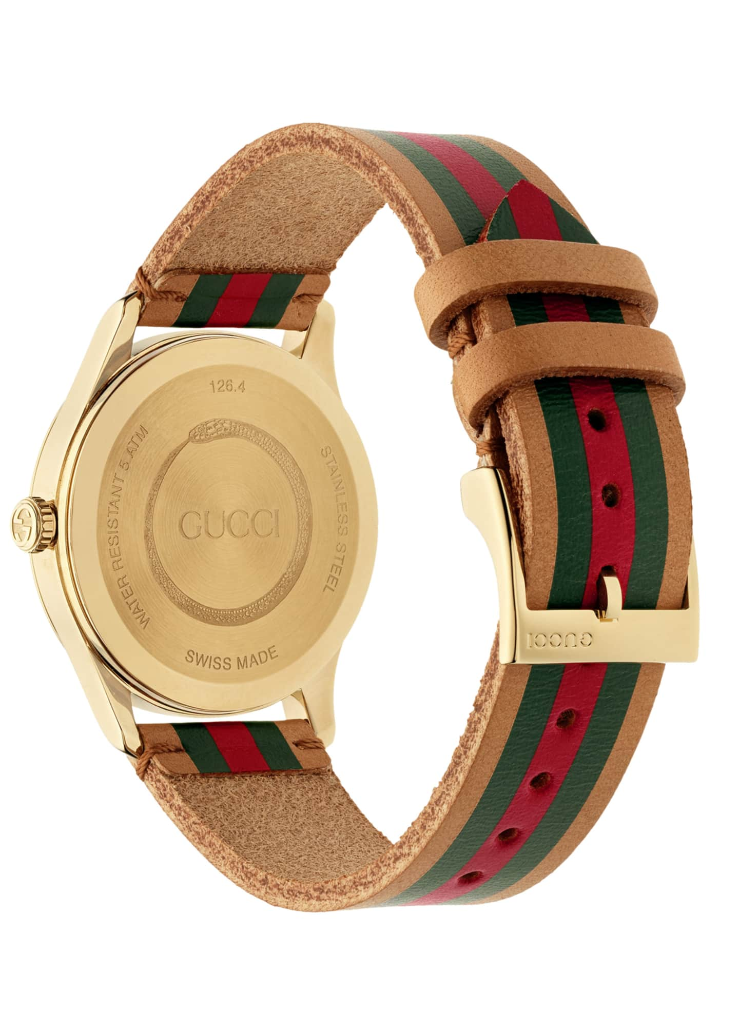 Image 2 of 4: Men's Tricolor Leather Web Watch