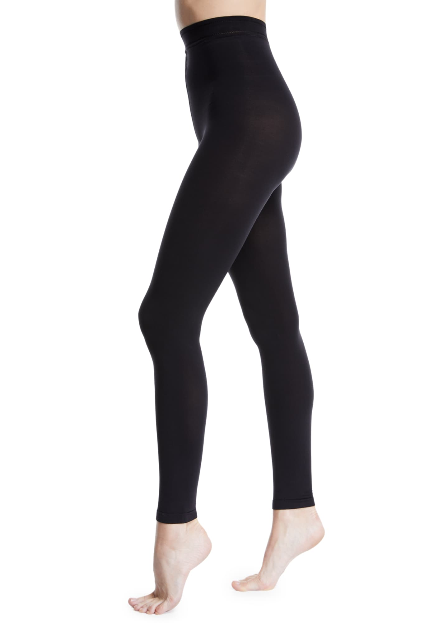 Image 1 of 1: Matte Jersey Footless Tights