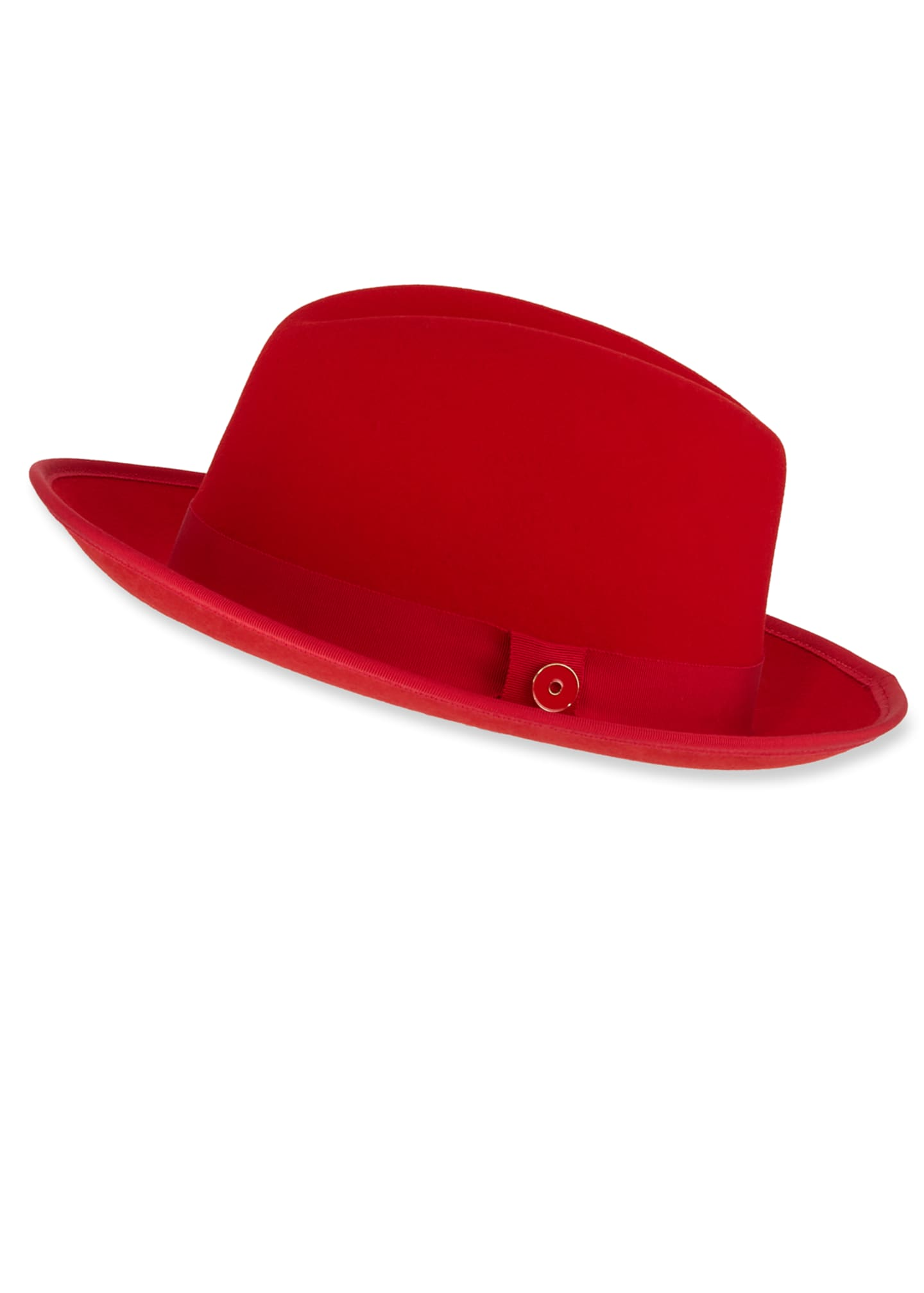 Keith and James Men's King Red-Brim Wool Fedora