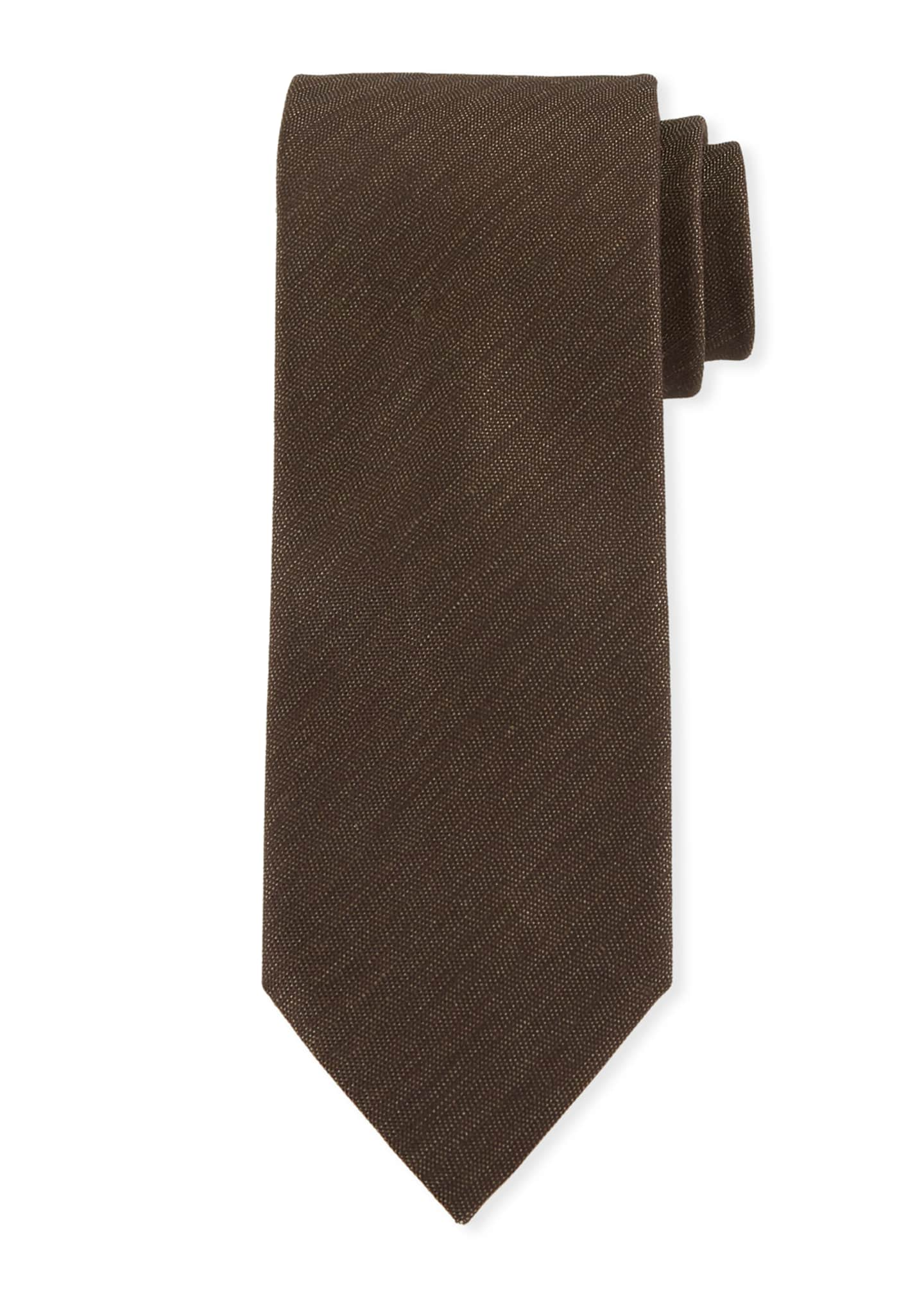 Ermenegildo Zegna Two-Tone Chevron Silk Tie