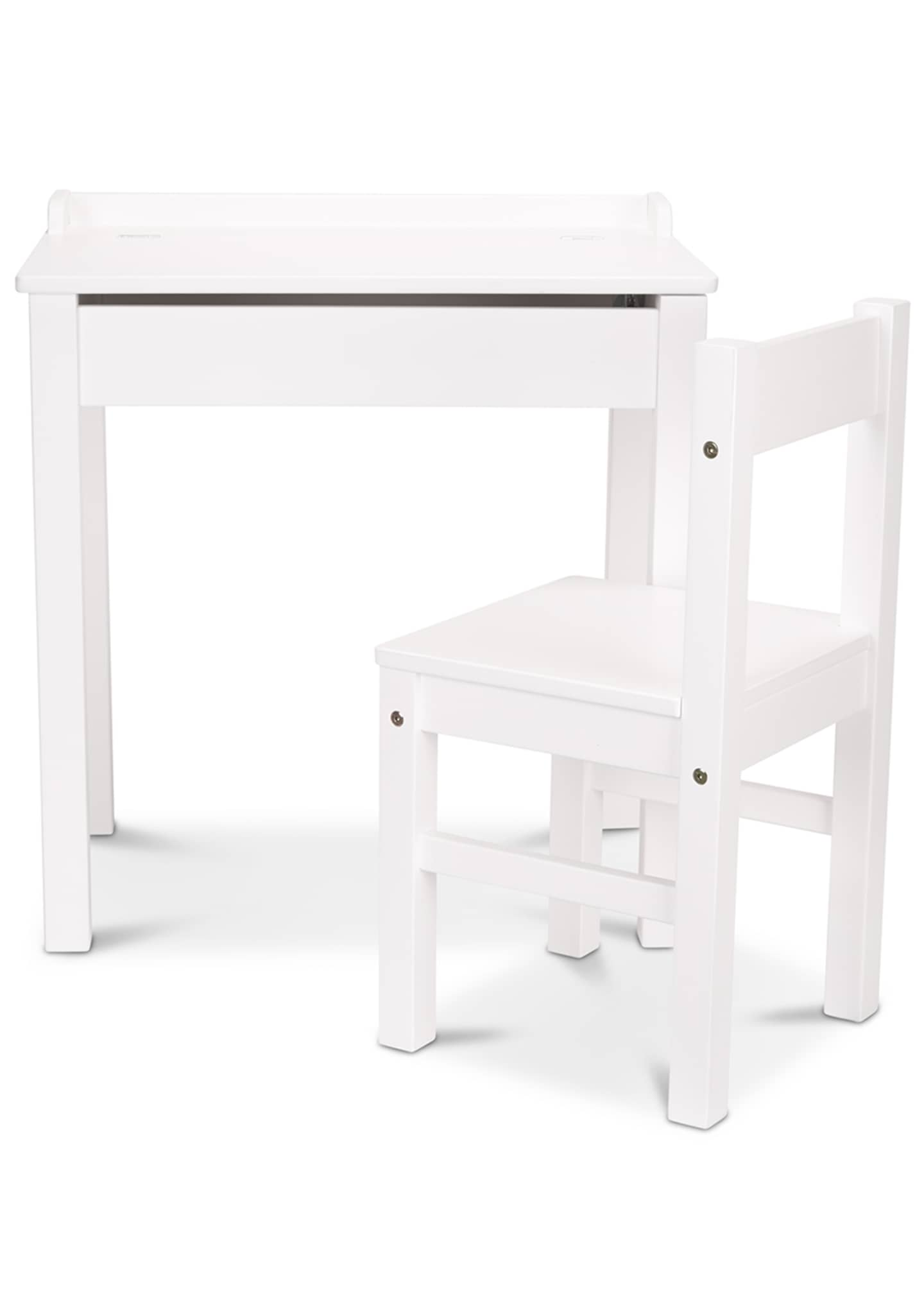 Image 1 of 1: Kids' Wooden Lift-Top Desk w/ Chair