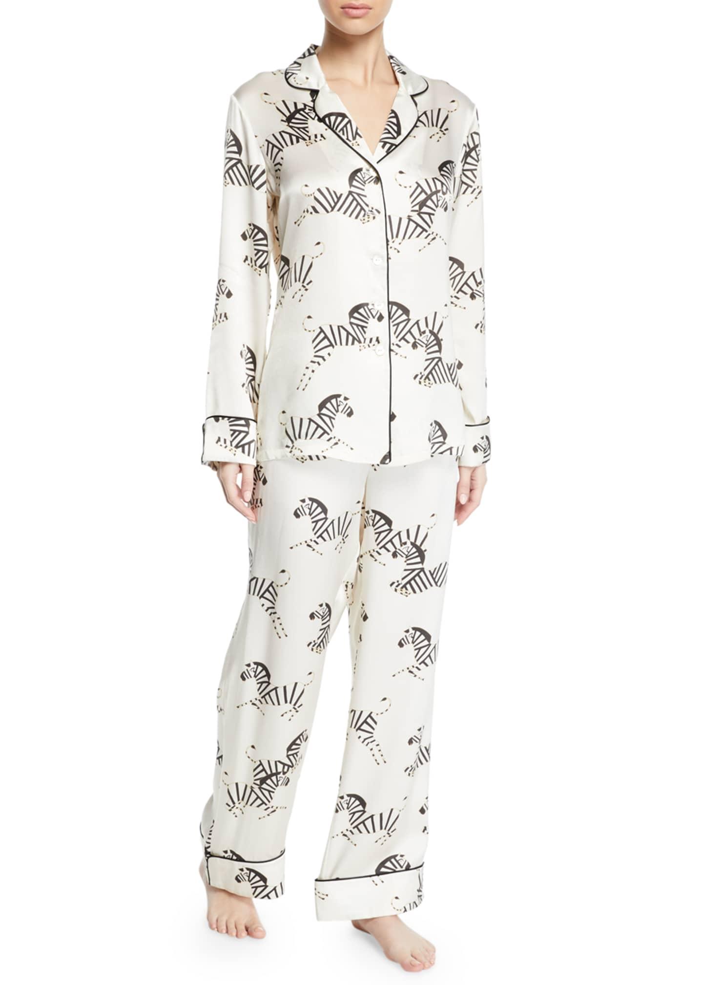 Olivia Von Halle Lila Zebedee Zebras Classic Pajama