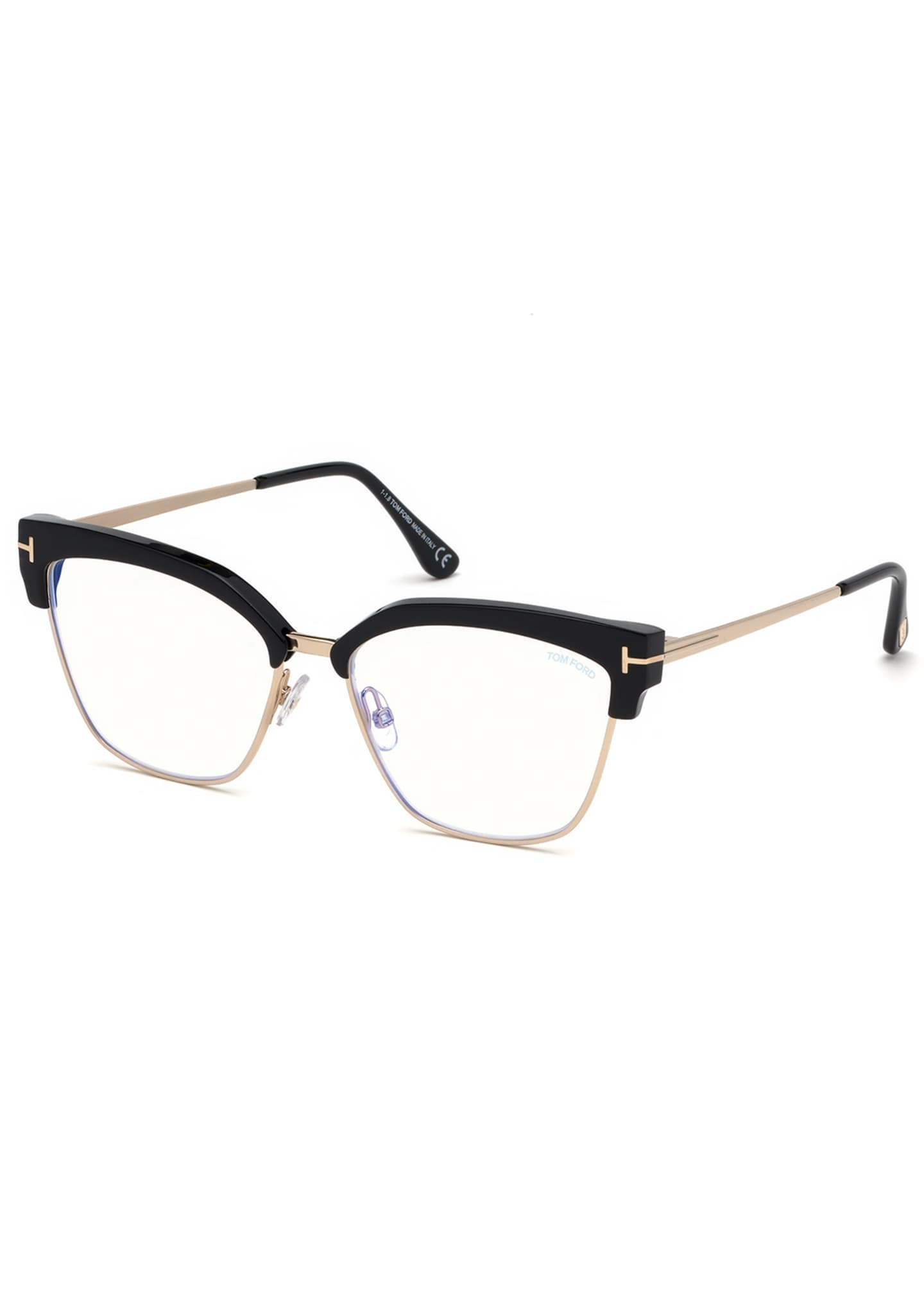 TOM FORD Cat-Eye Acetate & Metal Optical Frames