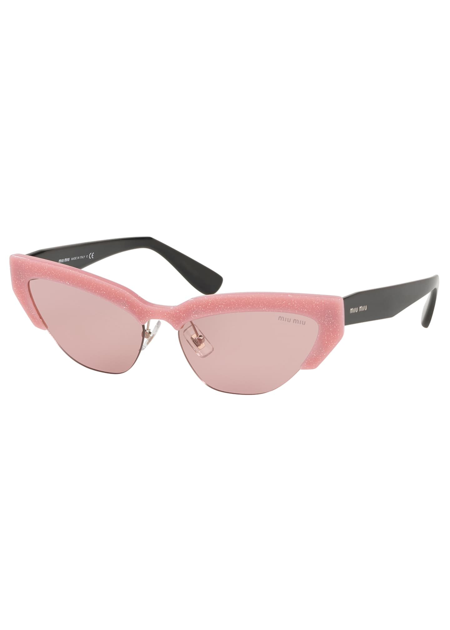 Miu Miu Semi-Rimless Cat-Eye Sunglasses