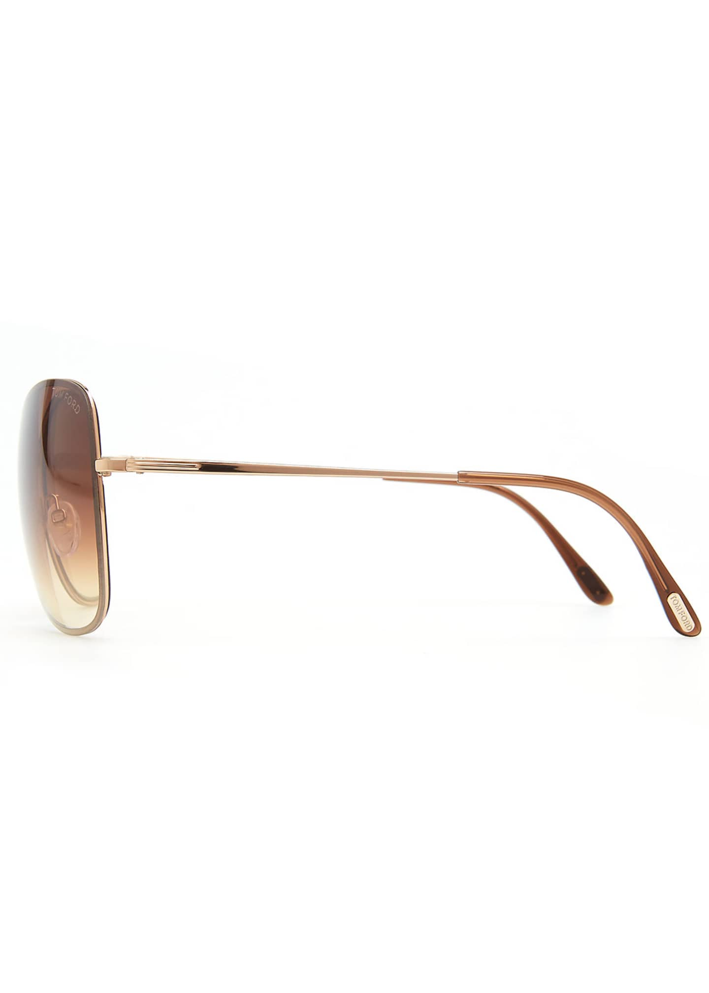 Image 3 of 3: Colette Metal-Frame Butterfly Sunglasses