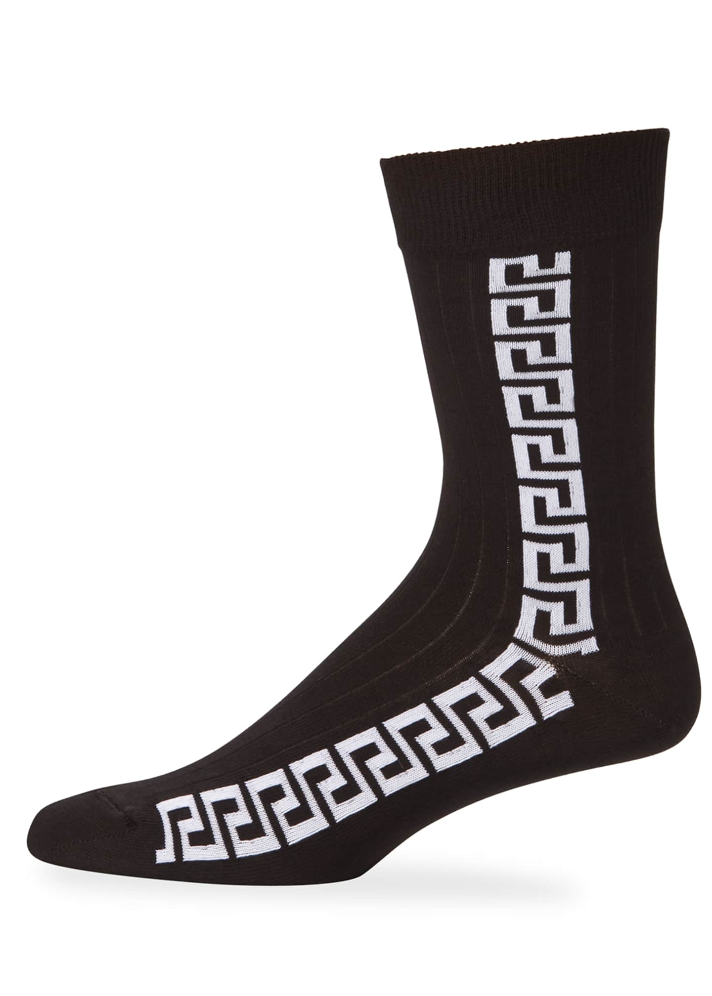 Versace Men's Athletic Vertical Stripe Socks