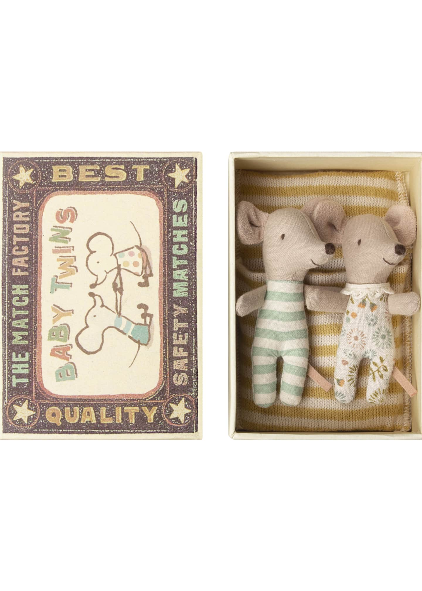 Image 1 of 1: Baby Mice Twins in Box