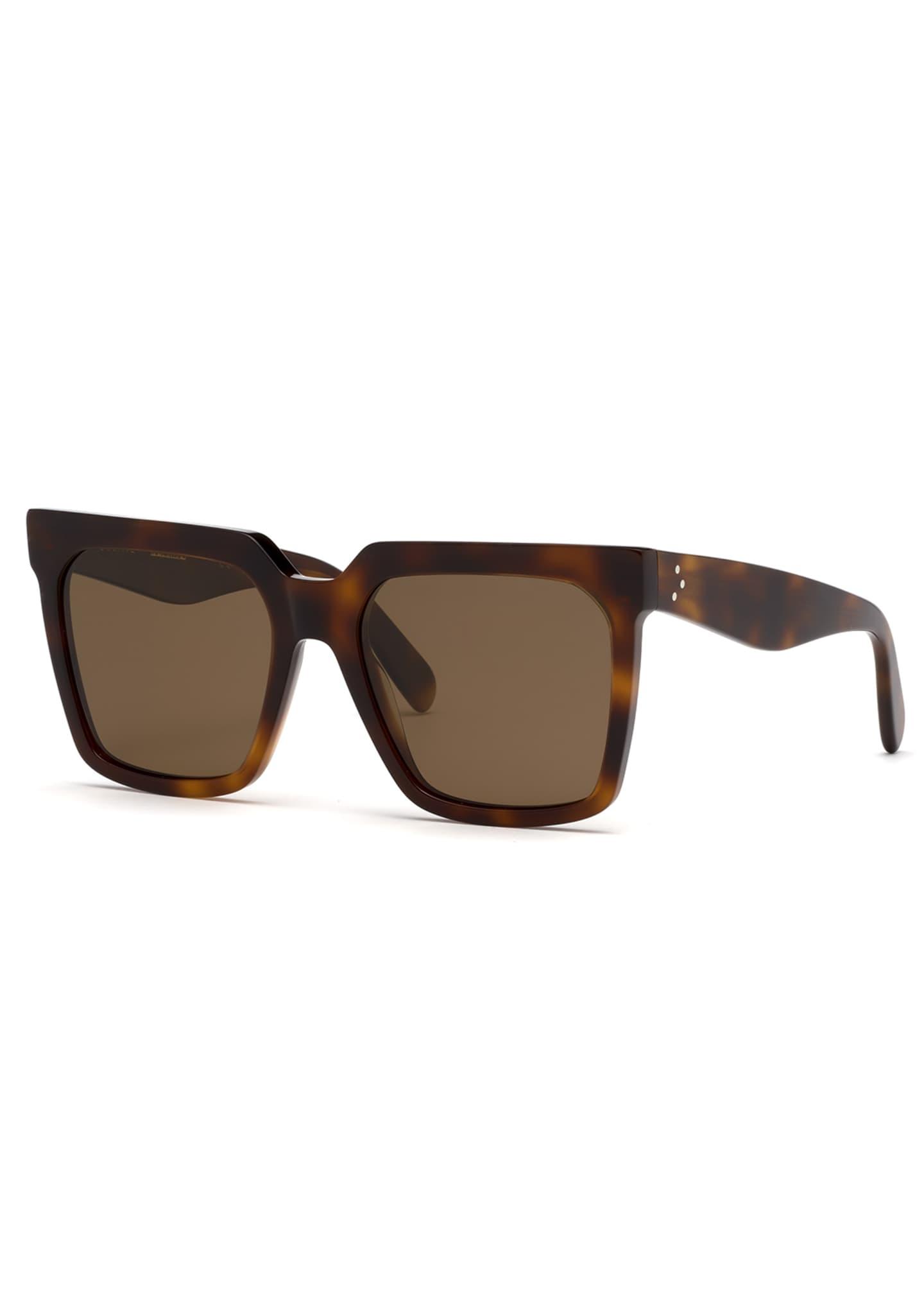 Celine Square Polarized Acetate Sunglasses