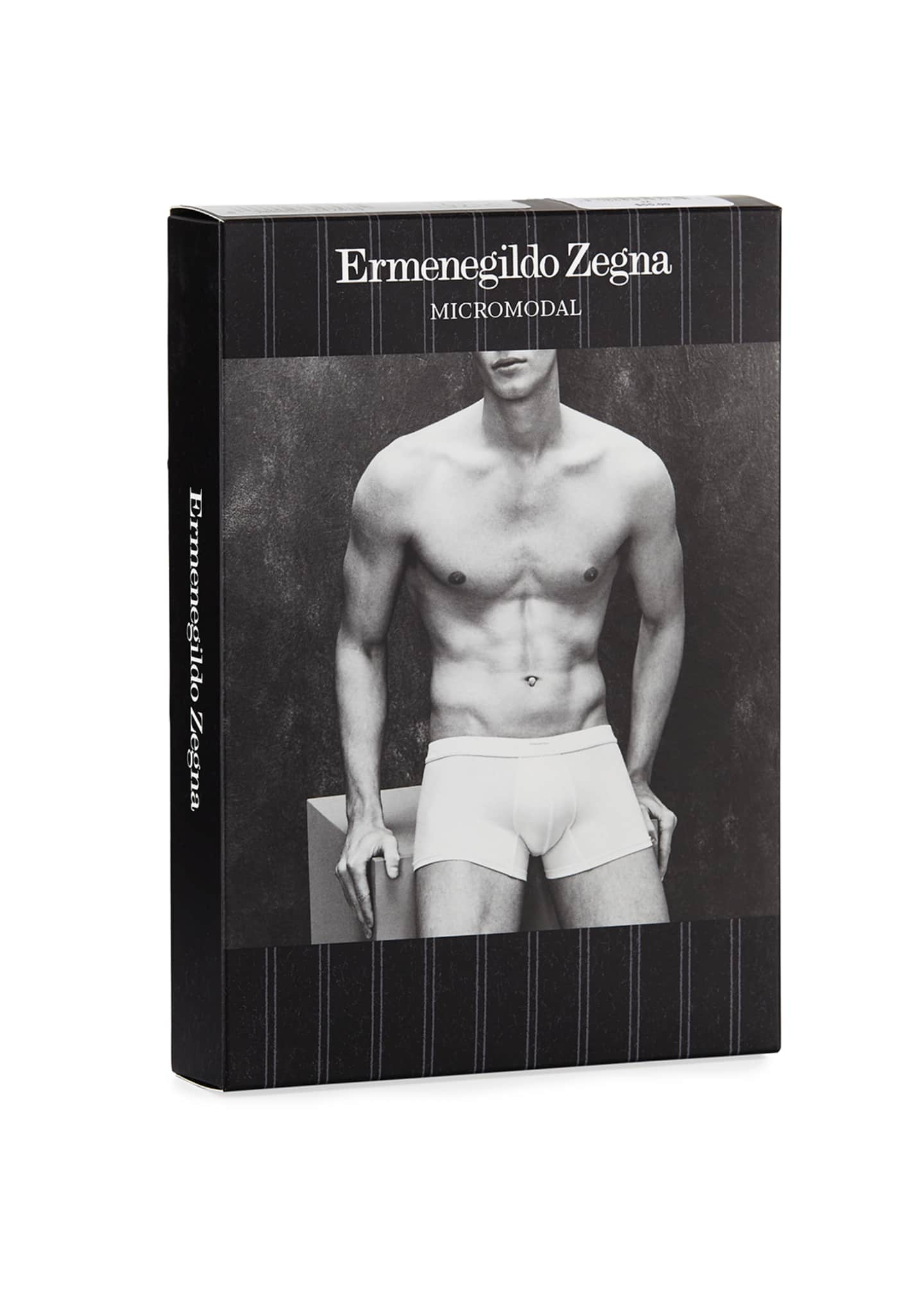 Image 2 of 2: Men's Micromodal Trunk Boxer Briefs