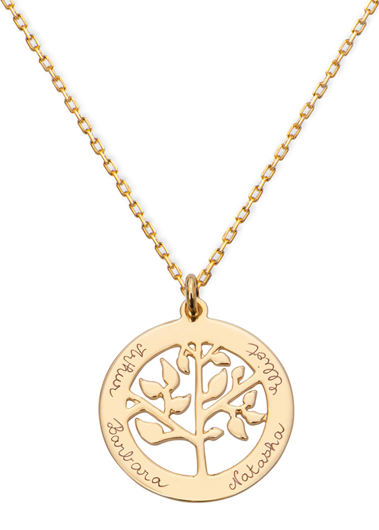 Merci Maman Personalized Tree of Life Necklace