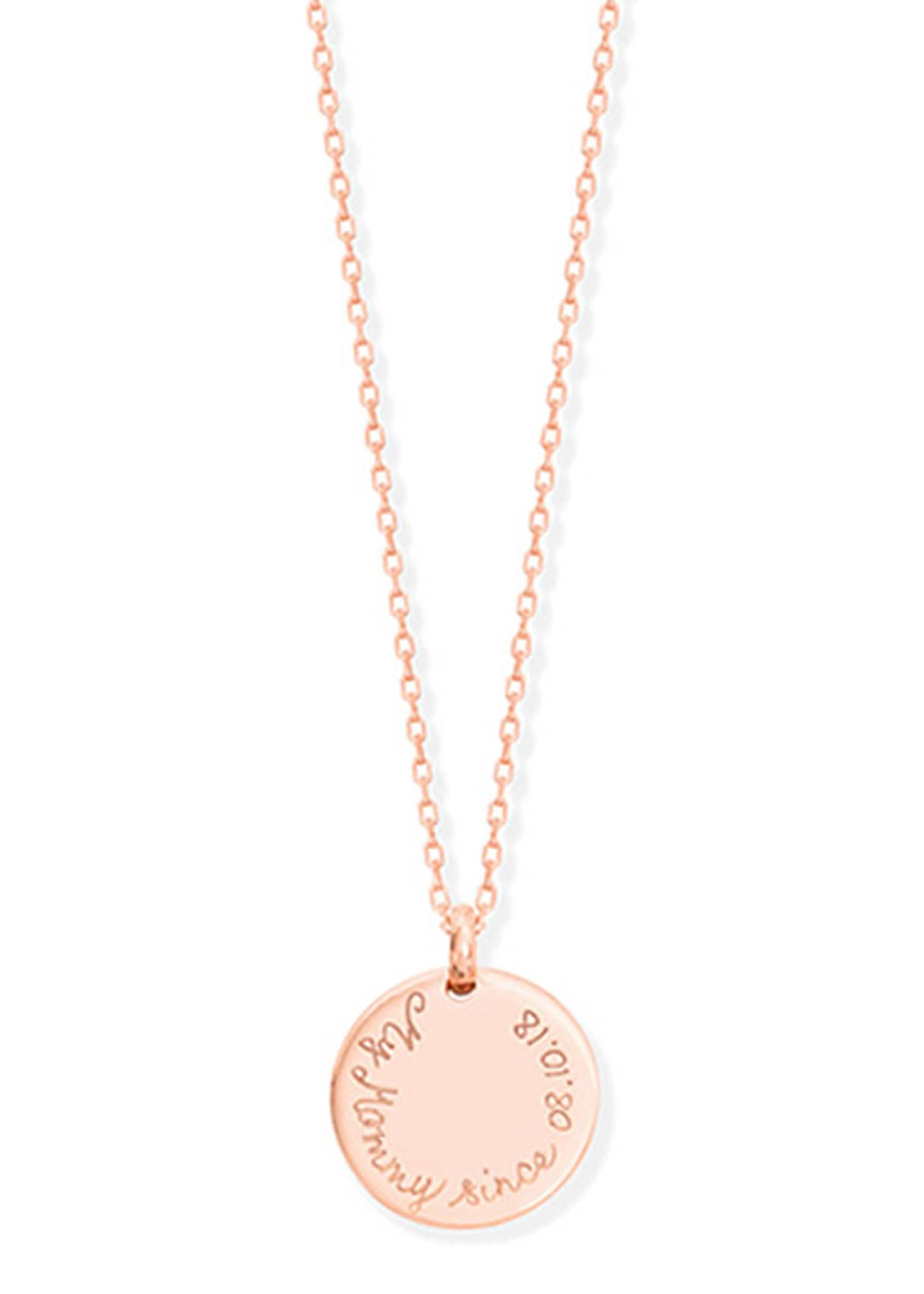 Merci Maman Personalized Edge Charm Necklace