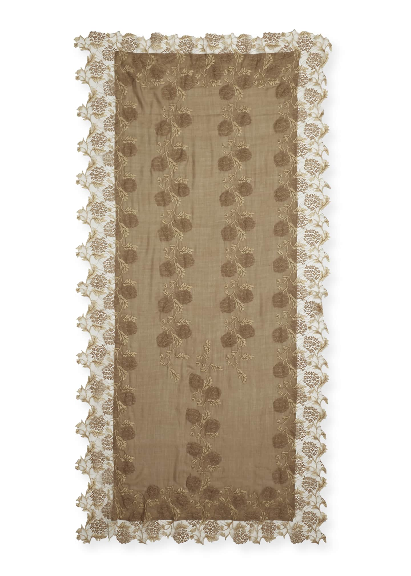Image 2 of 2: Lace Embroidery Stole